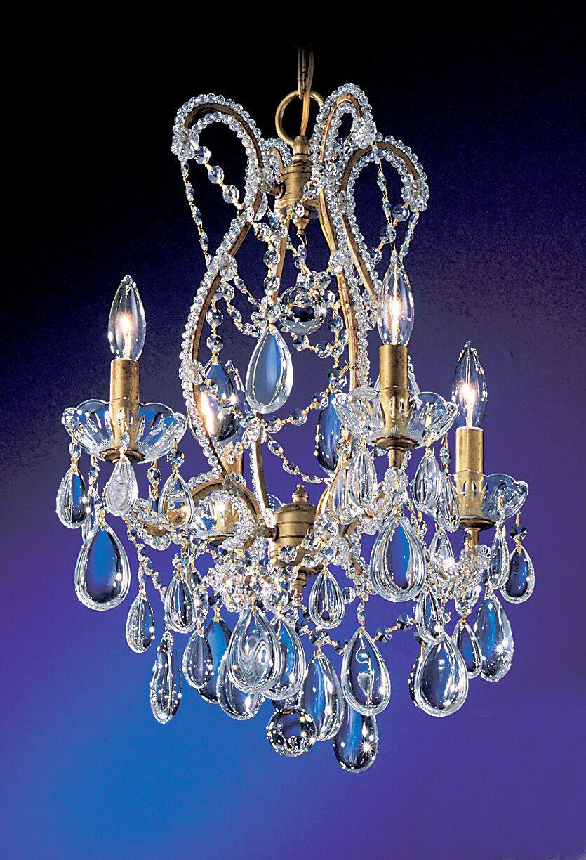 Tivoli 4-Light Candle Style Chandelier Finish: Olde Gold