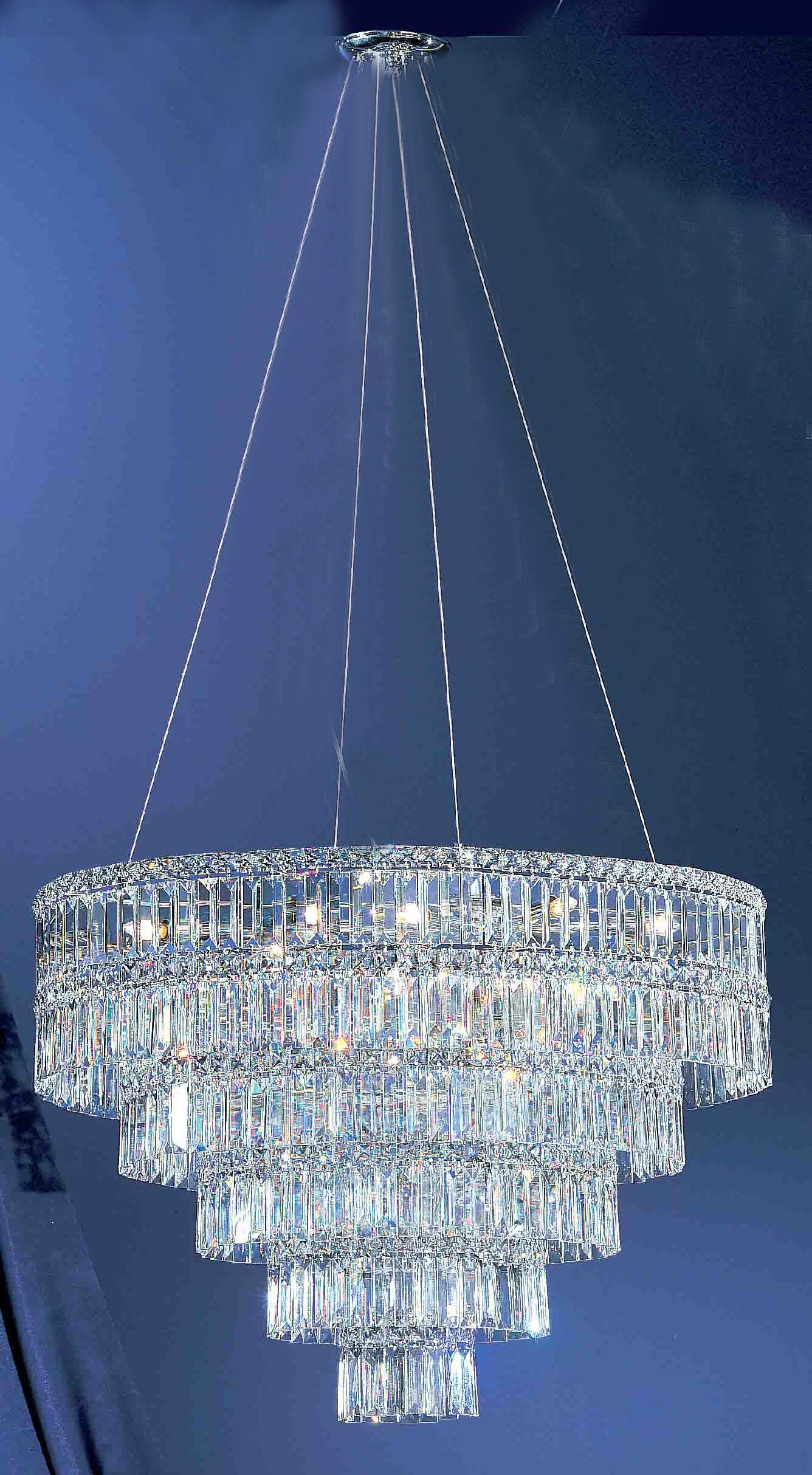 Sofia 11-Light Chandelier Crystal Type: Crystalique Golden Teak