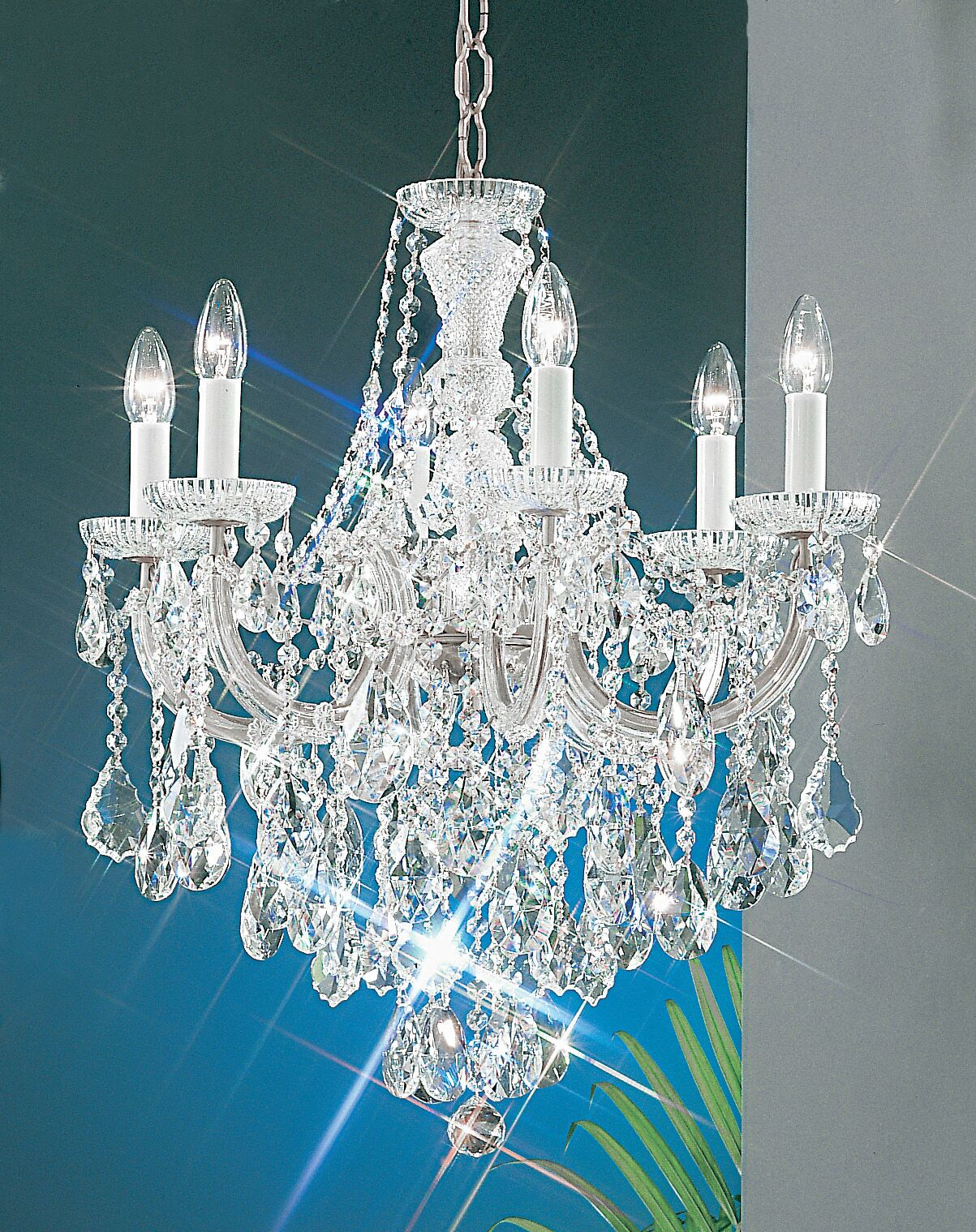 Maria Thersea 6-Light Candle Style Chandelier Finish: Chrome, Crystal Type: Crystalique