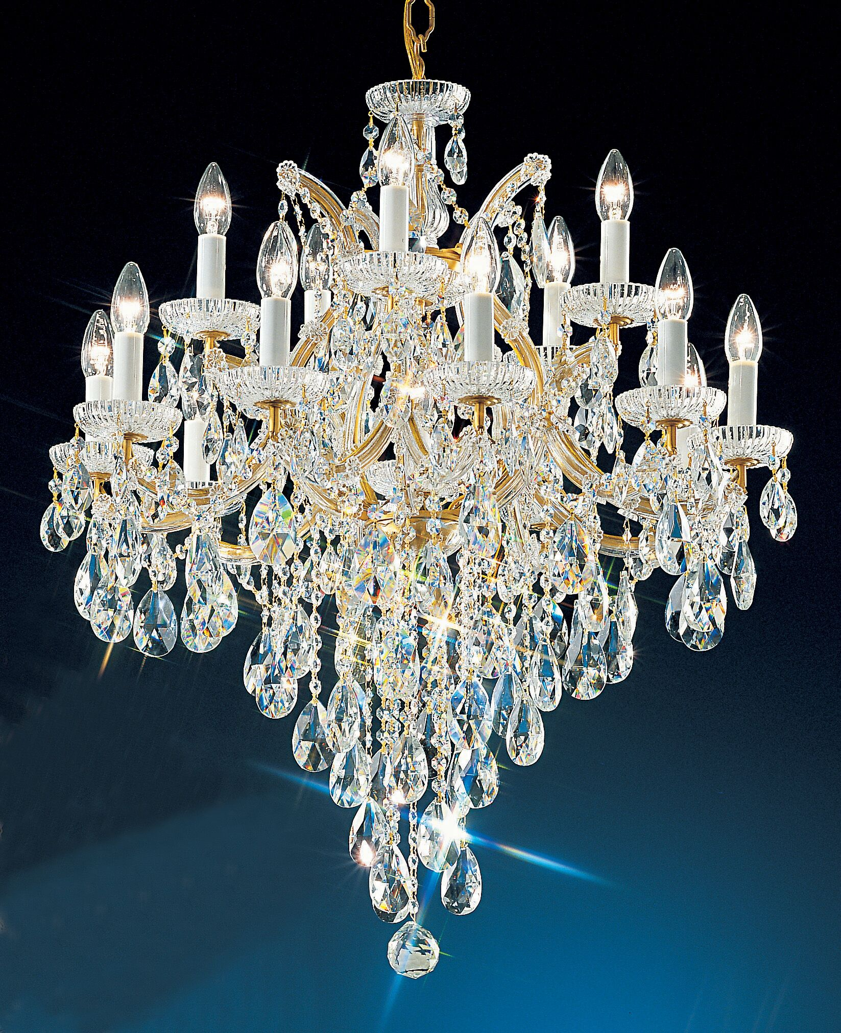 Maria Thersea 16-Light Candle Style Chandelier Finish: Chrome, Crystal Type: Swarovski Elements