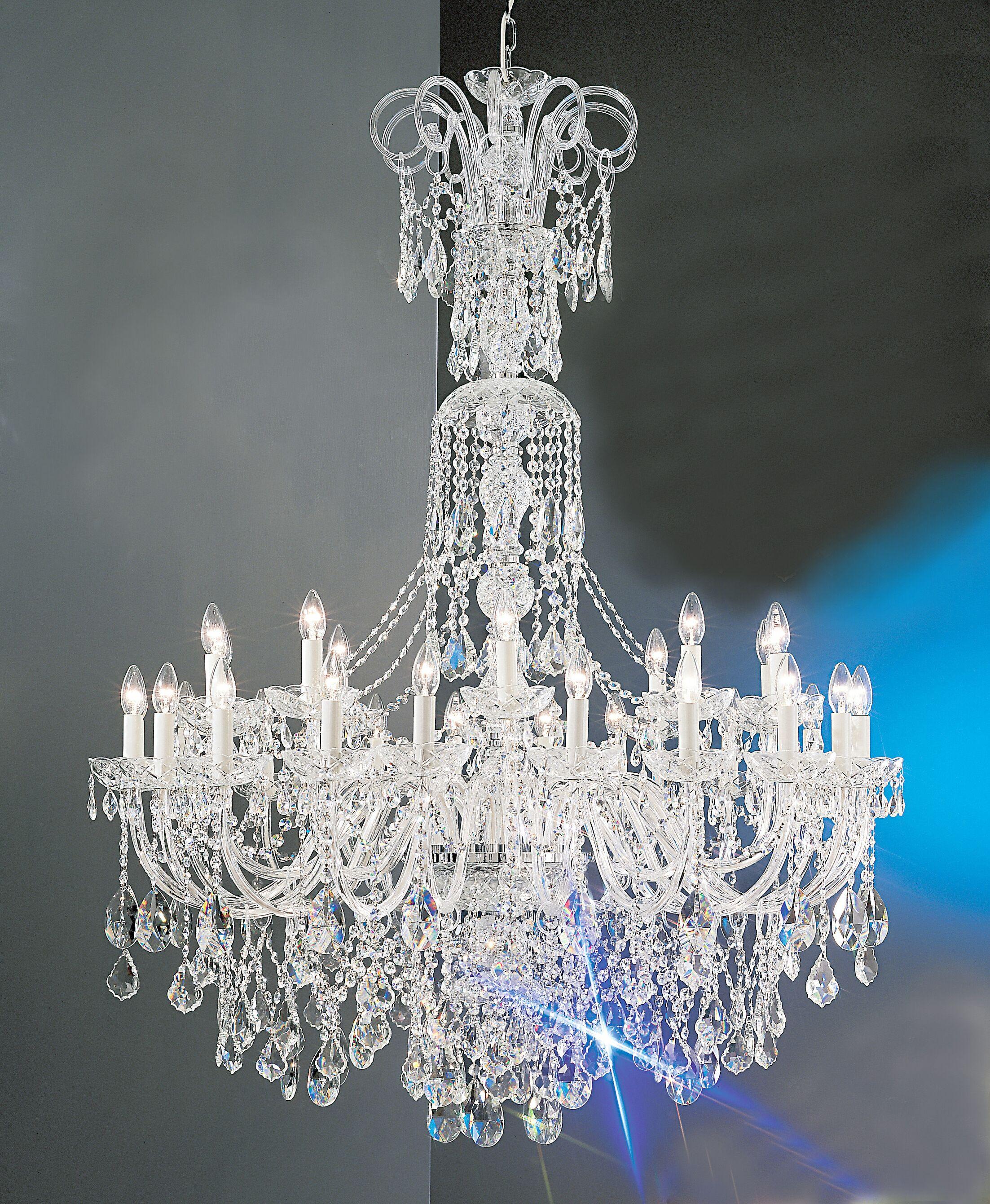 Bohemia 30-Light Candle Style Chandelier Crystal Type: Swarovski Elements, Finish: 24K Gold Plate