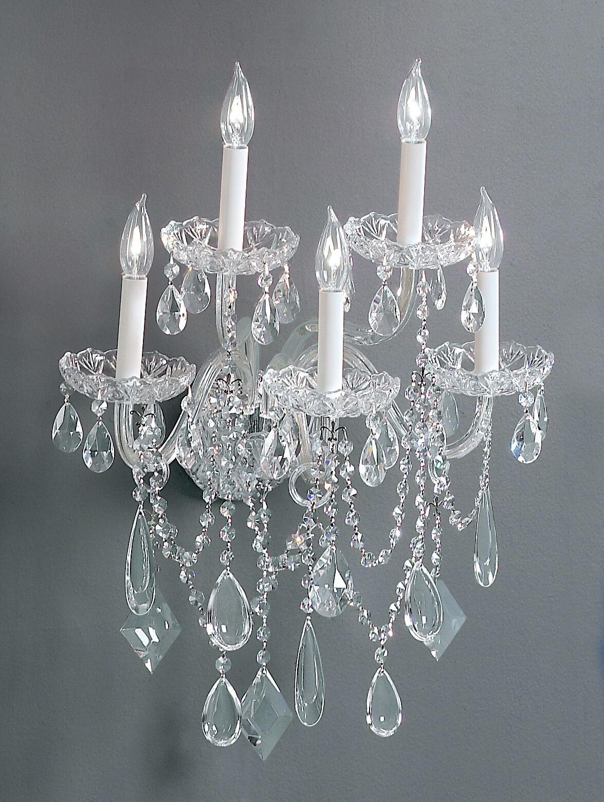 Prague 5-Light Candle Style Chandelier Crystal Type: Swarovski Spectra