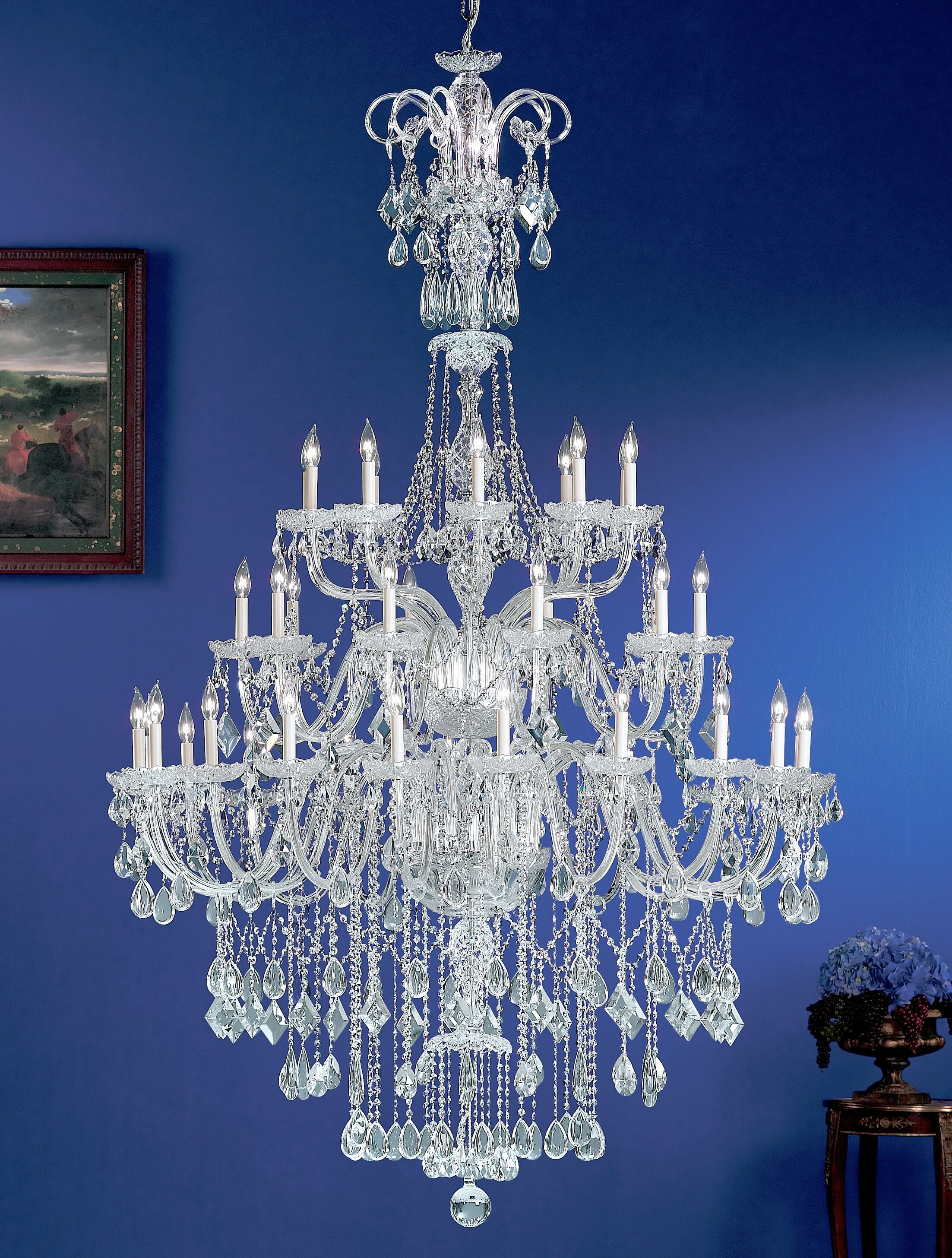 Prague 40-Light Candle Style Chandelier Crystal Type: Crystalique