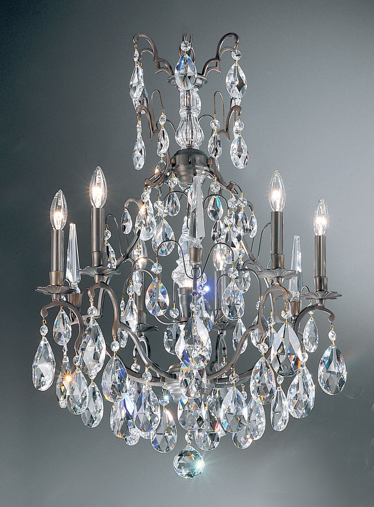 Versailles 7-Light Candle Style Chandelier Crystal Type: Swarovski Spectra