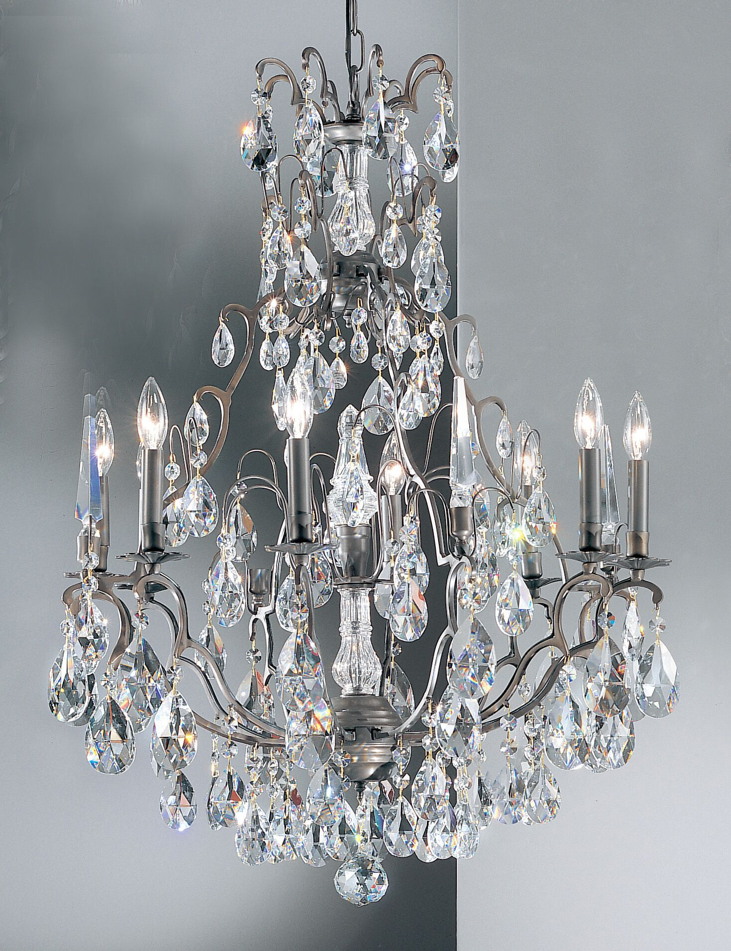 Versailles 9-Light Candle Style Chandelier Crystal Type: Swarovski Spectra