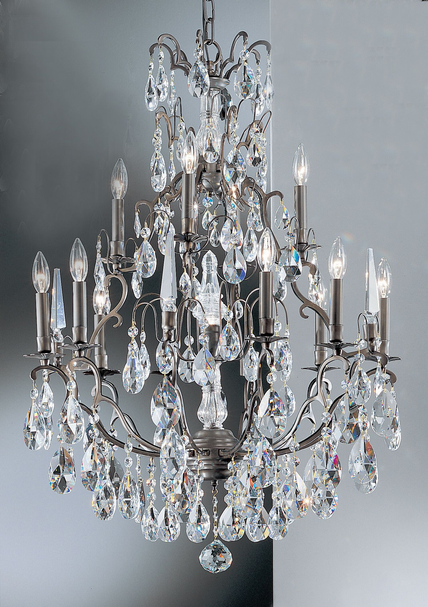 Versailles 13-Light Candle Style Chandelier Crystal Type: Crystalique