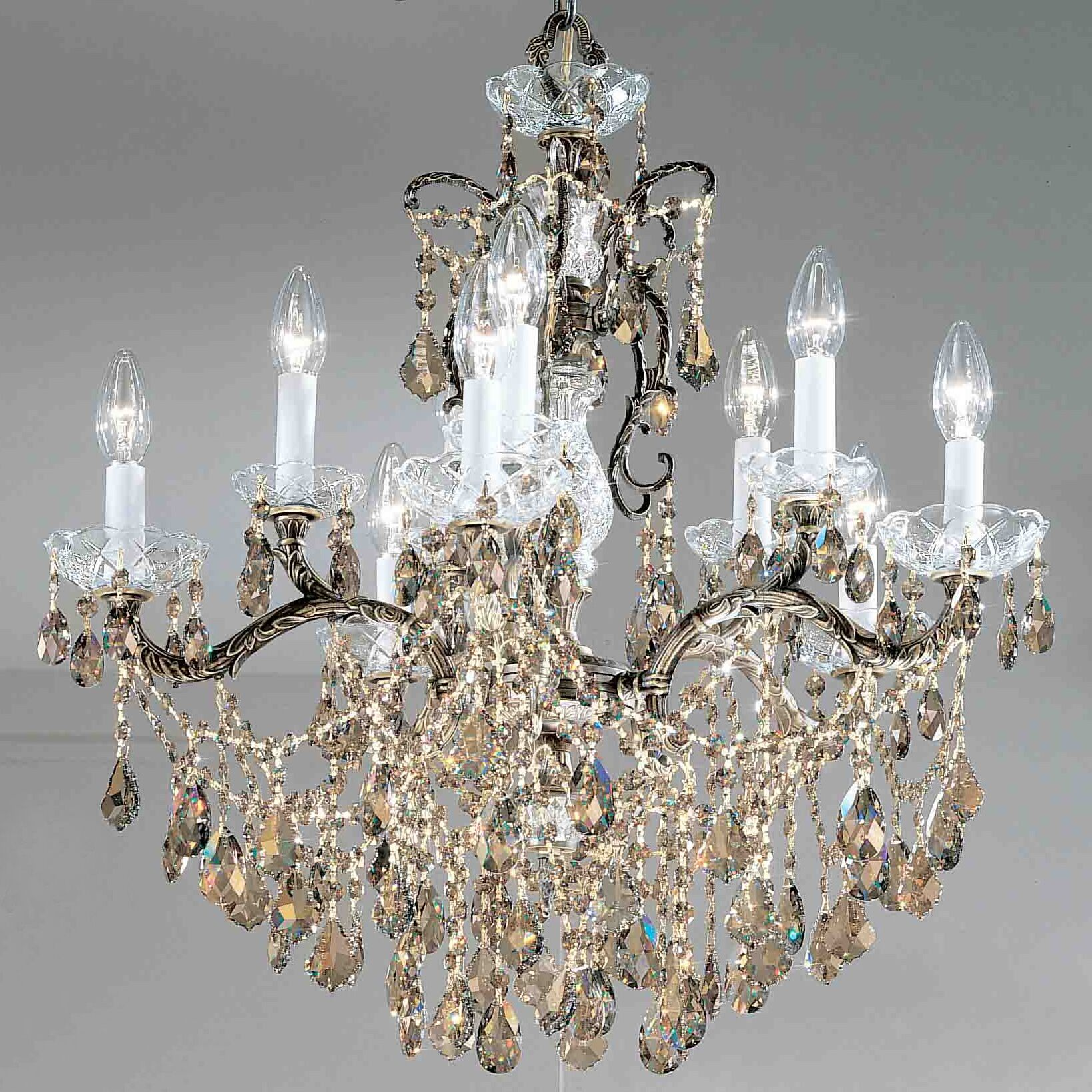 Madrid Imperial 10-Light Candle Style Chandelier Finish: Olde World Bronze, Crystal Type: Swarovski Spectra