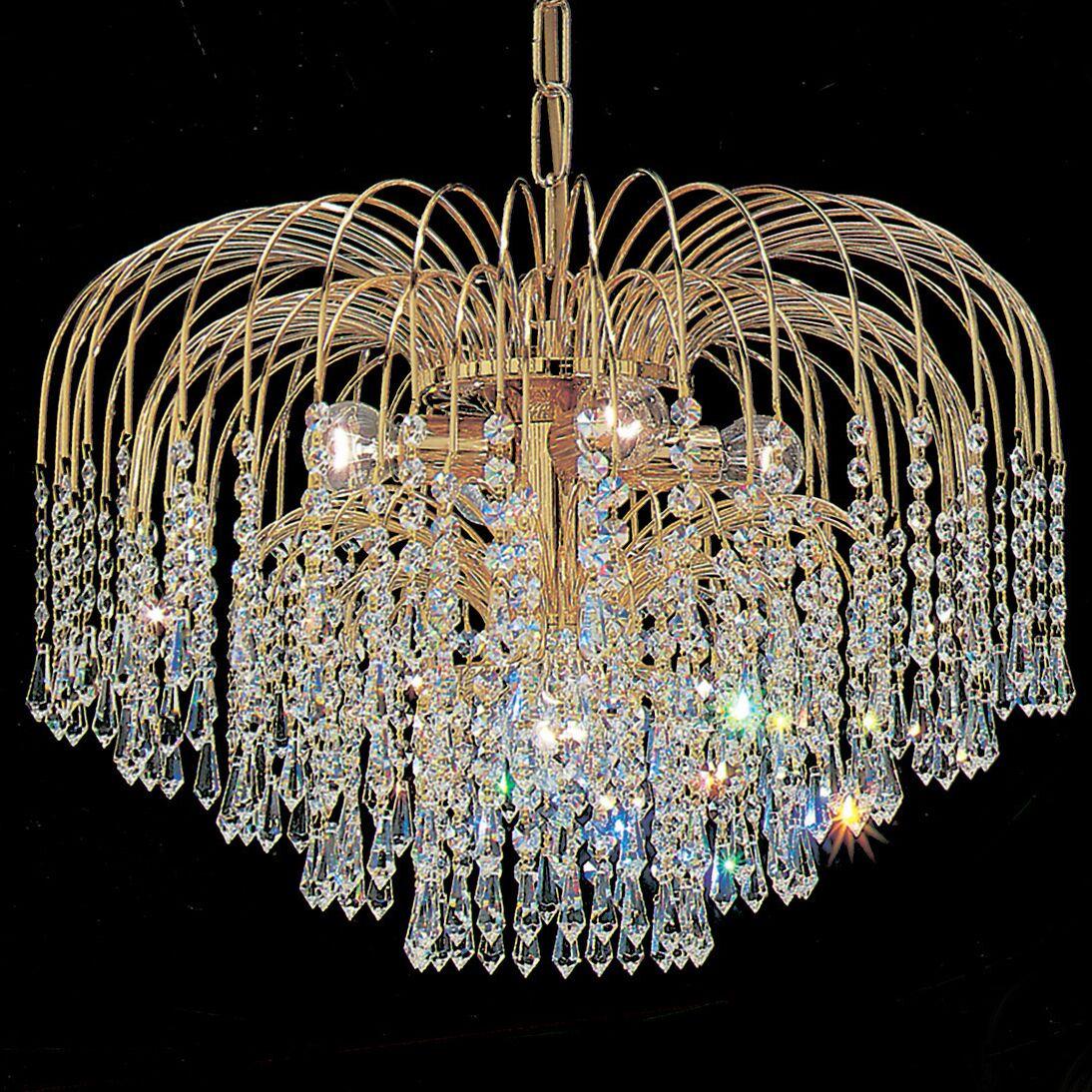 Sprays 4-Light Chandelier Crystal Type: Swarovski Spectra