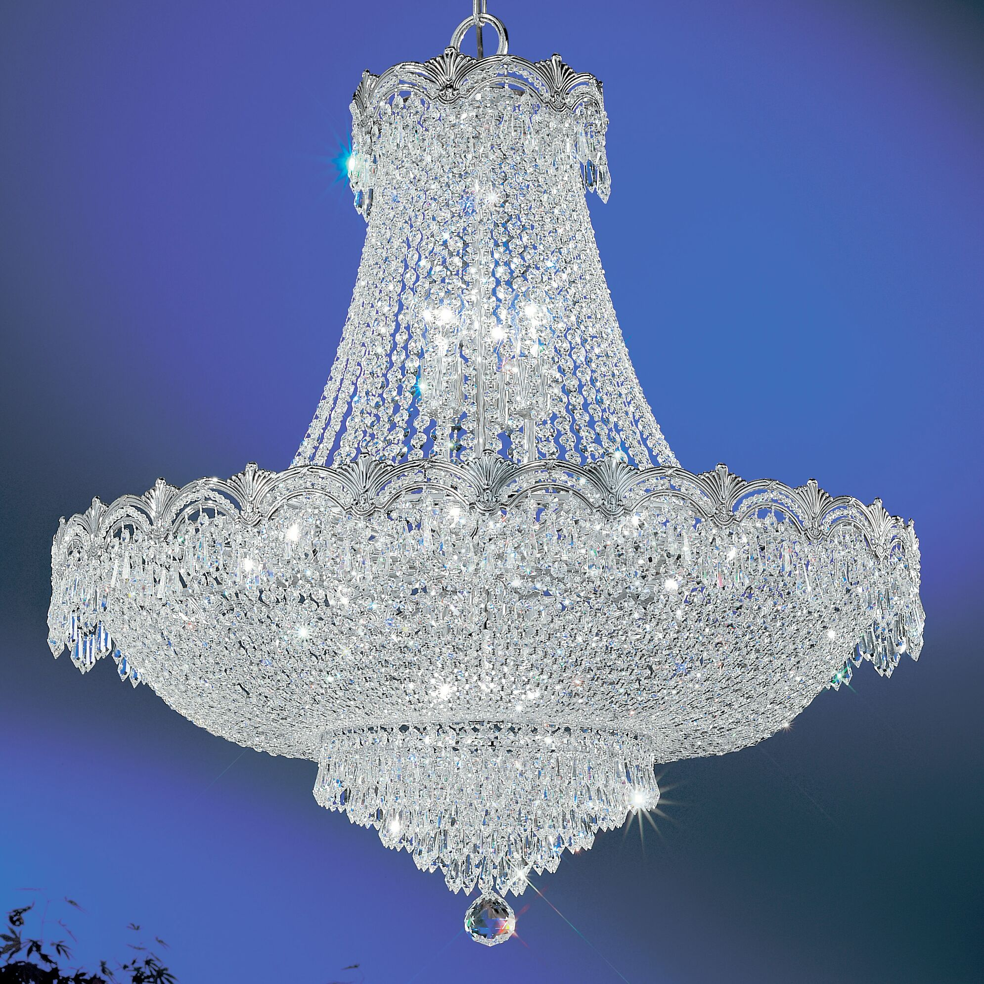 Regency II 11-Light Chandelier Finish: Chrome with Black patina, Crystal Type: Crystalique Plus