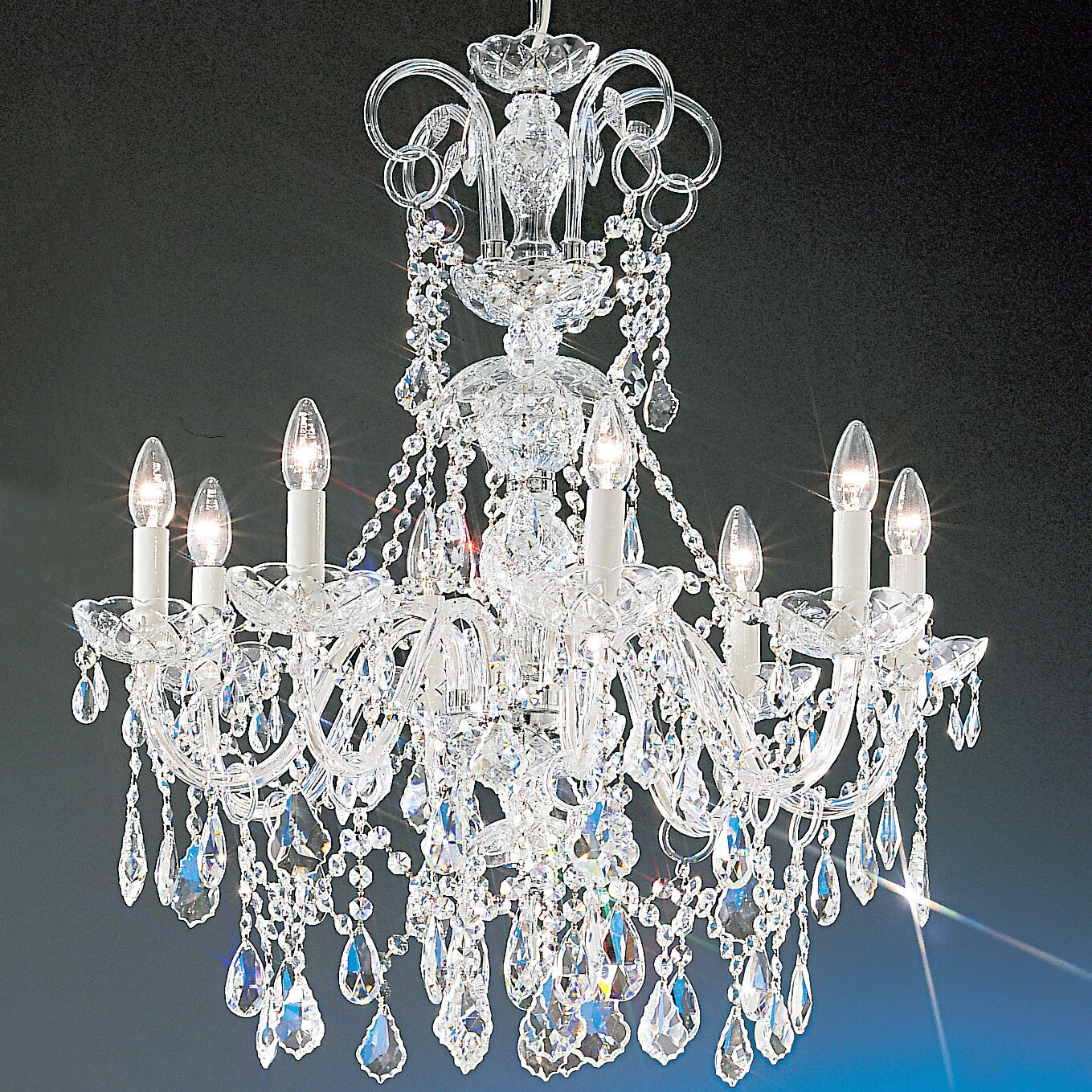 Bohemia 8-Light Candle Style Chandelier Crystal Type: Swarovski Spectra, Finish: 24K Gold Plate
