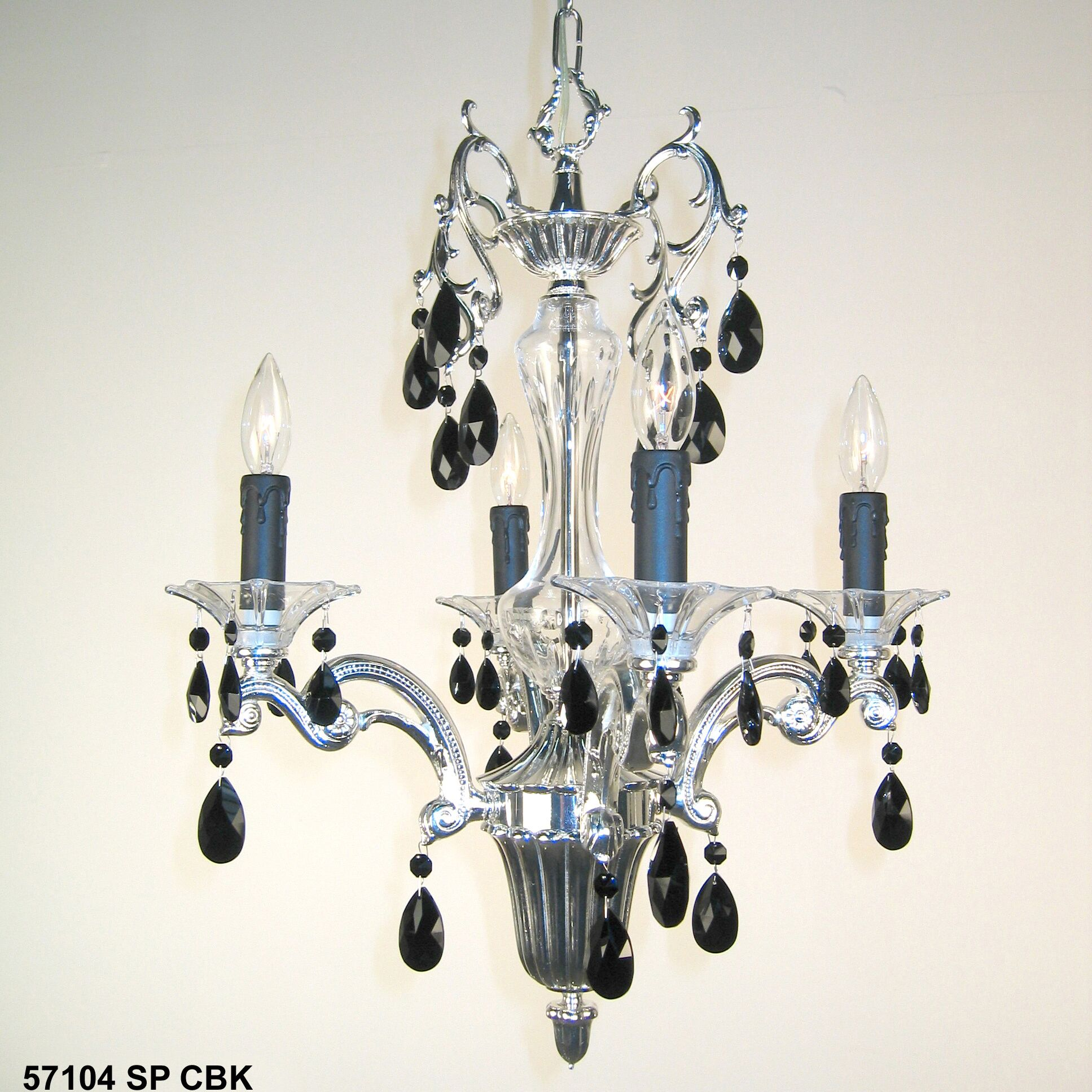 Via Firenze 4-Light Candle Style Chandelier Finish: Bronze with Black Patina, Crystal Type: Italian Rock Clear