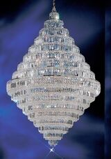 Ambassador 30-Light Chandelier Finish: Chrome, Crystal Type: Crystalique Plus