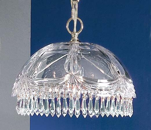Prague 1-Light Crystal Pendant Crystal Type: Swarovski Elements, Finish: 24K Gold Plate