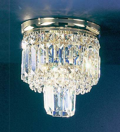 Ambassador 1-Light Semi-Flush Mount Finish: Chrome, Crystal Type: Swarovski Spectra