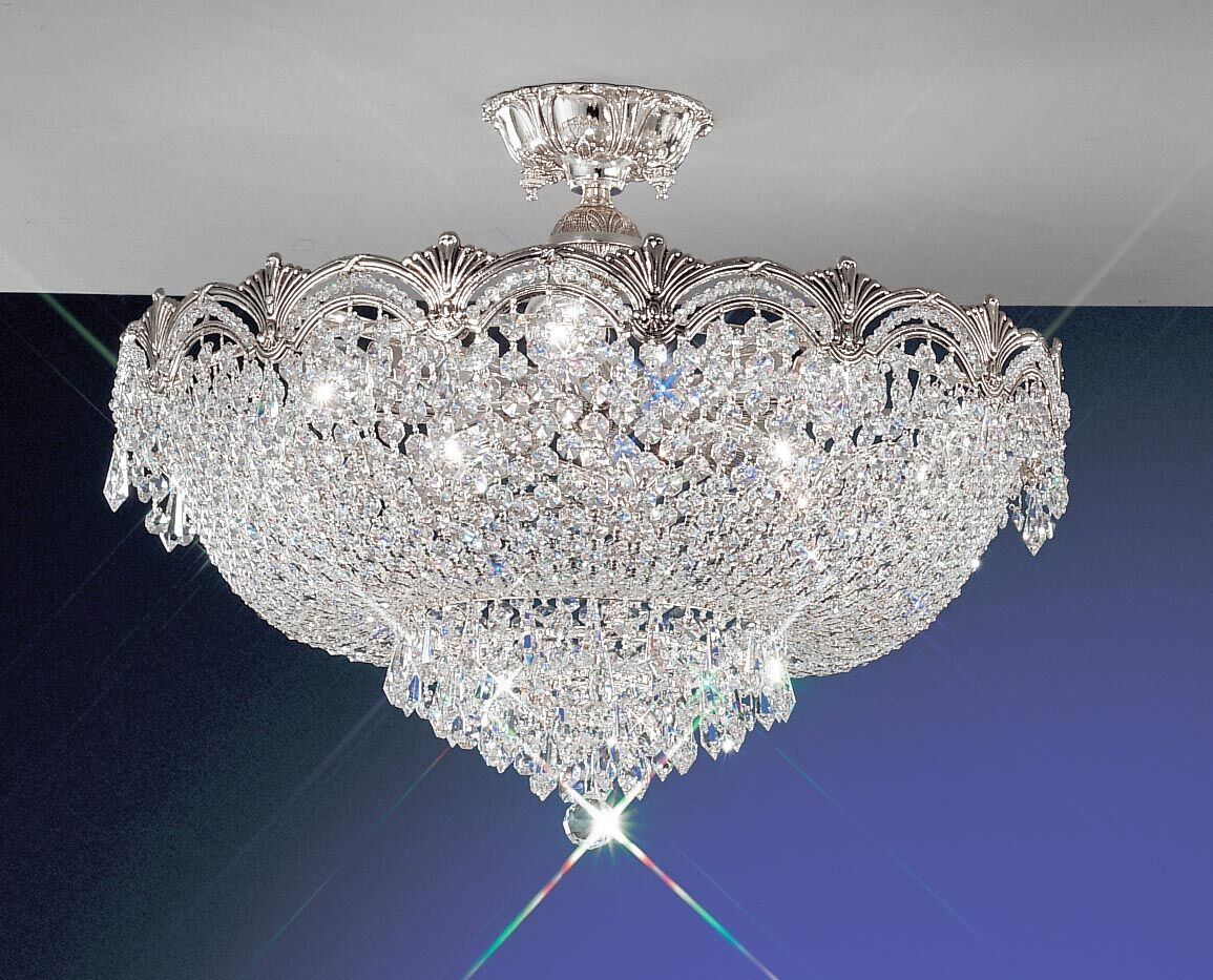 Regency II Semi-Flush Mount Crystal Type: Swarovski Elements, Finish: Roman Bronze