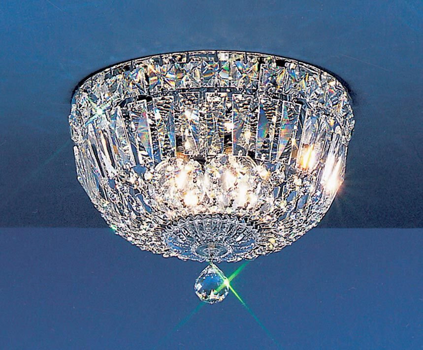 Empress Light Semi-Flush Mount Crystal Type: Crystalique-Plus, Size: 7