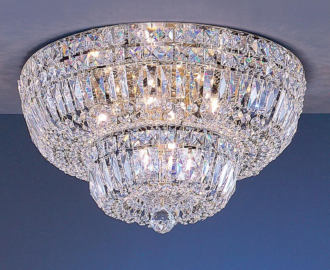 Empress 9-Light Semi-Flush Mount Crystal Type: Swarovski Elements