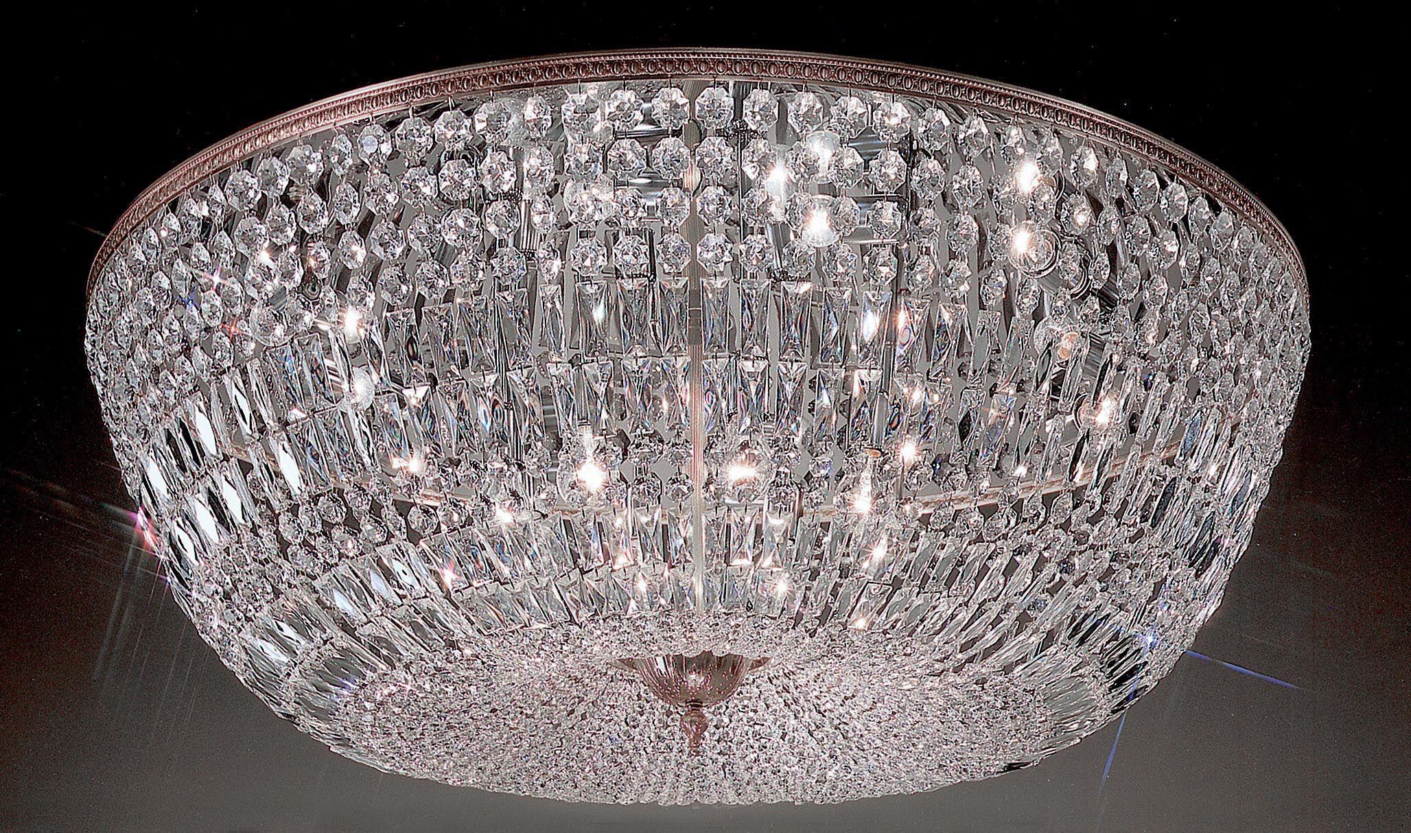 Genevieve 20-Light Semi-Flush Mount Crystal Type: Italian, Finish: Millenium Silver