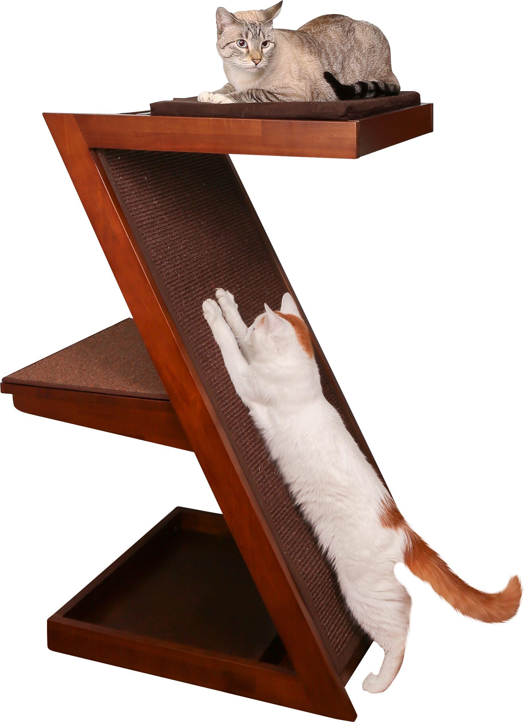 Hardin Zen Cat Scratching Post Color: Mahogany