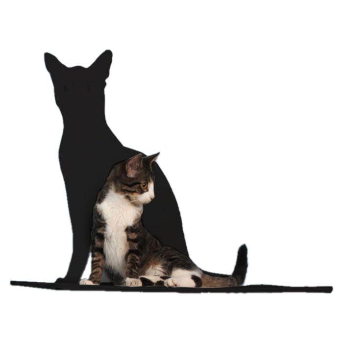 Silhouette Cat Perch Color: Black