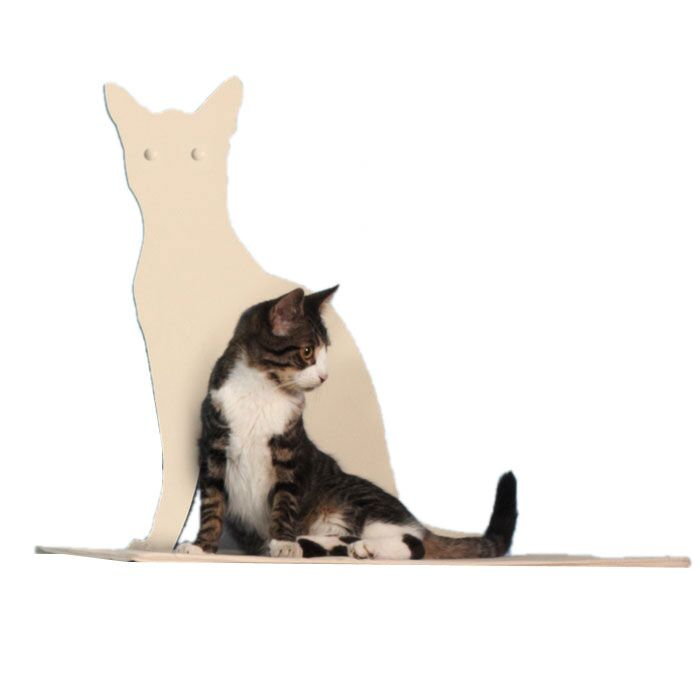 Silhouette Cat Perch Color: Off-White
