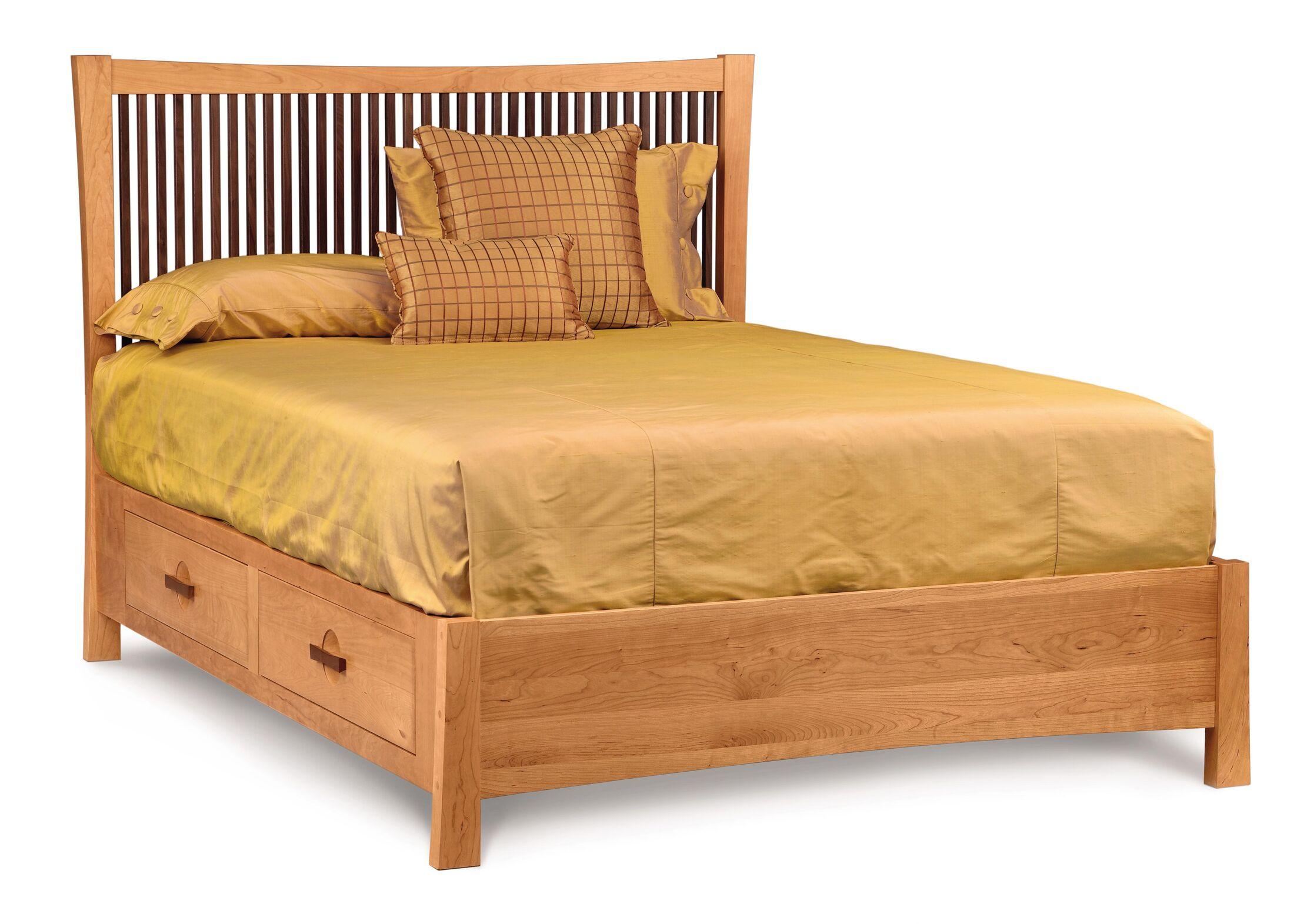 Berkeley Storage Platform Bed Size: King, Color: Saddle Cherry