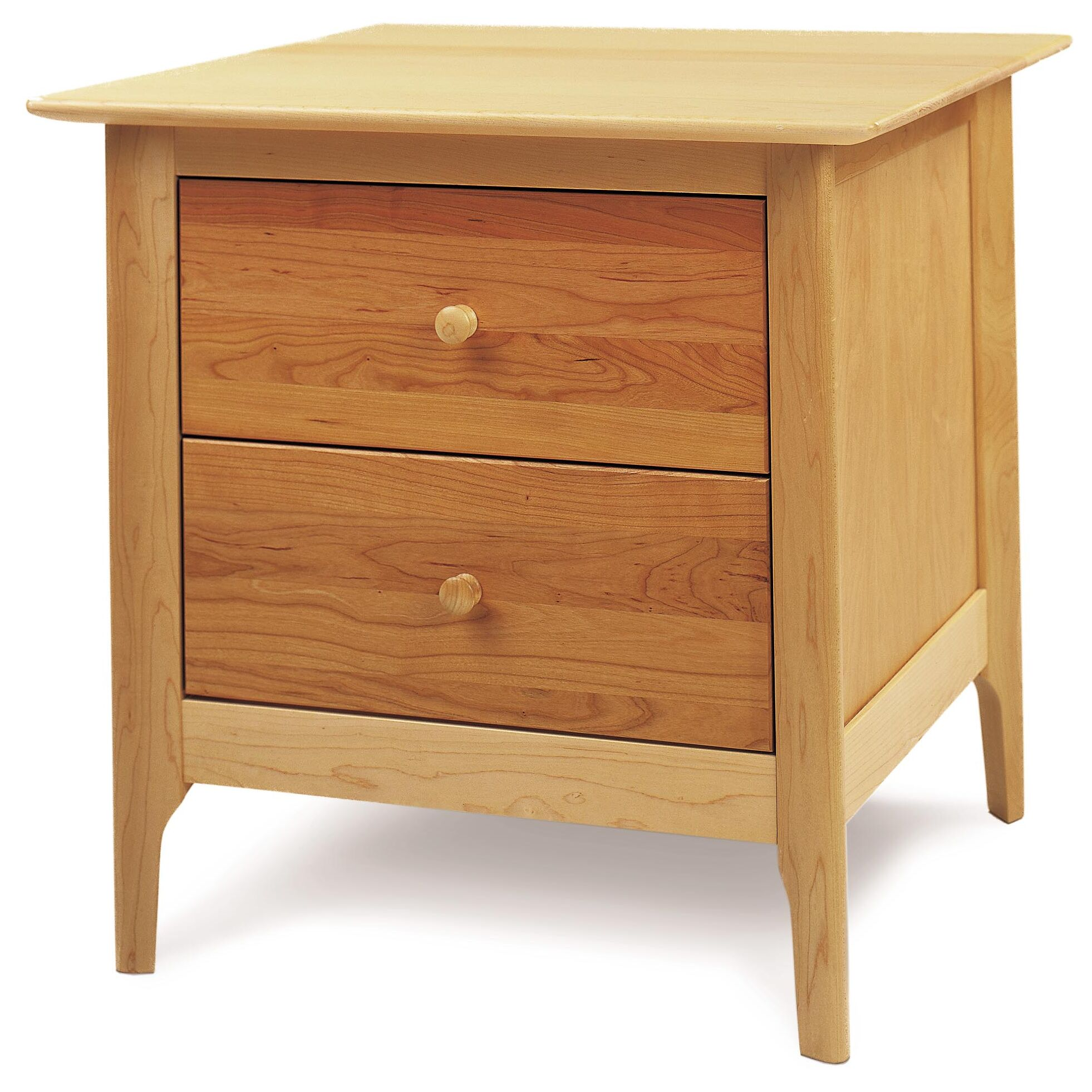 Sarah 2 Drawer Nightstand Color: Cognac Cherry, Height: 28