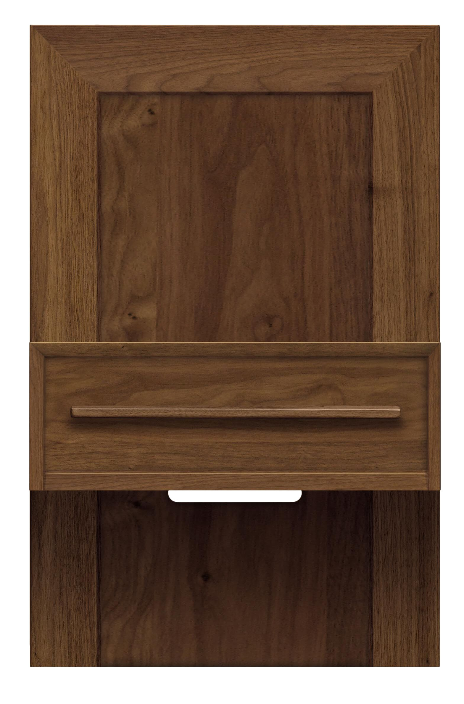 Moduluxe 1 Drawer Nightstand Color: Saddle Cherry, Size: 35