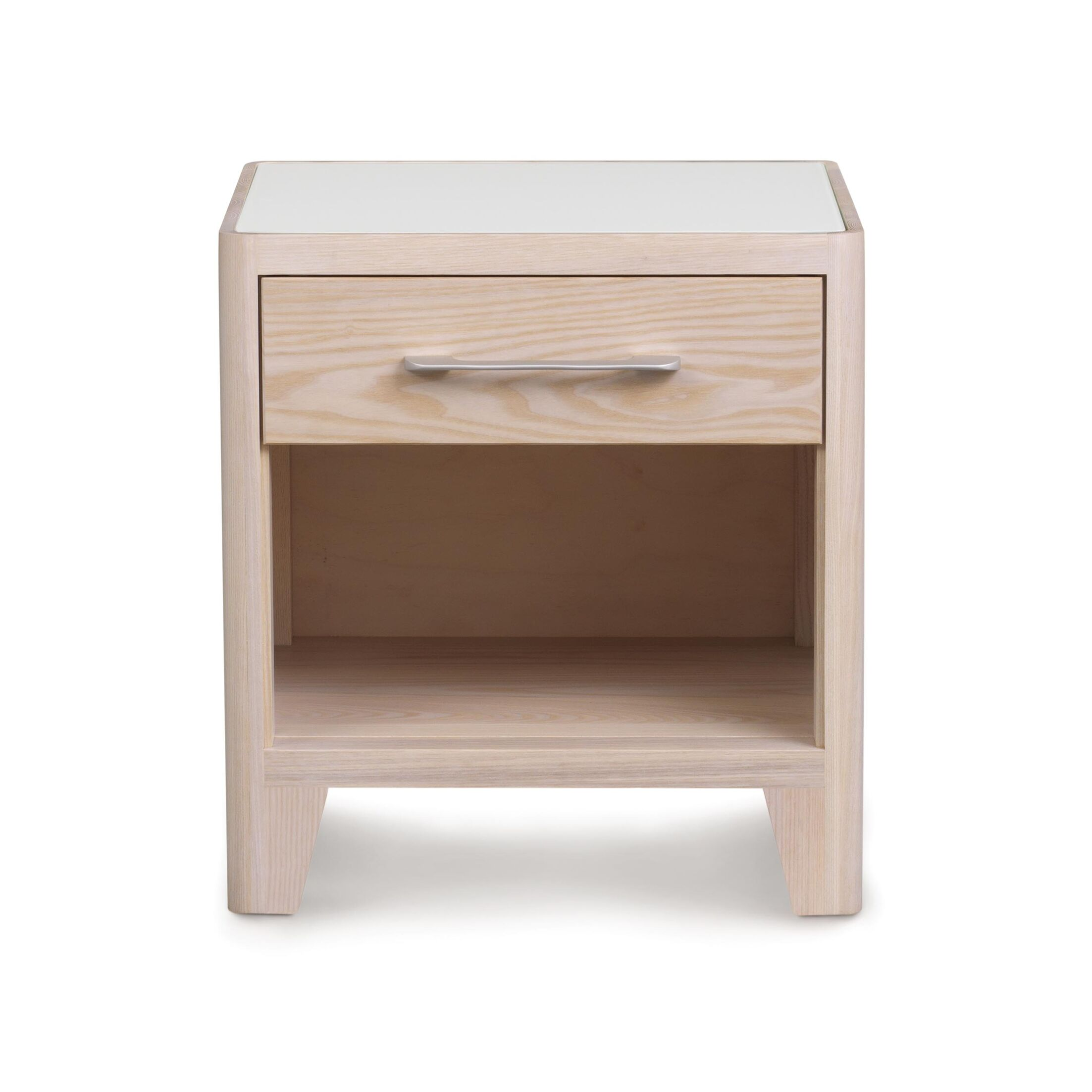 Contour 1 Drawer Nightstand Color: Soaped Ash, Base Material: Solid Ashwood, Top Material: Wood