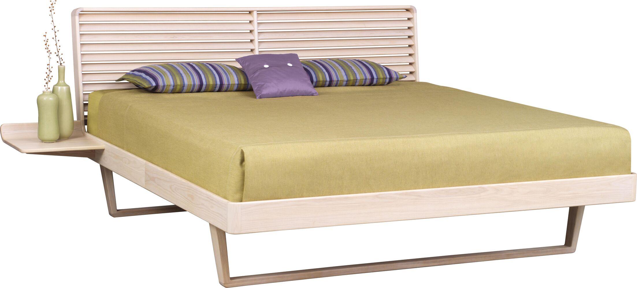Contour Platform Bed Color: Weathered Ash, Size: Queen