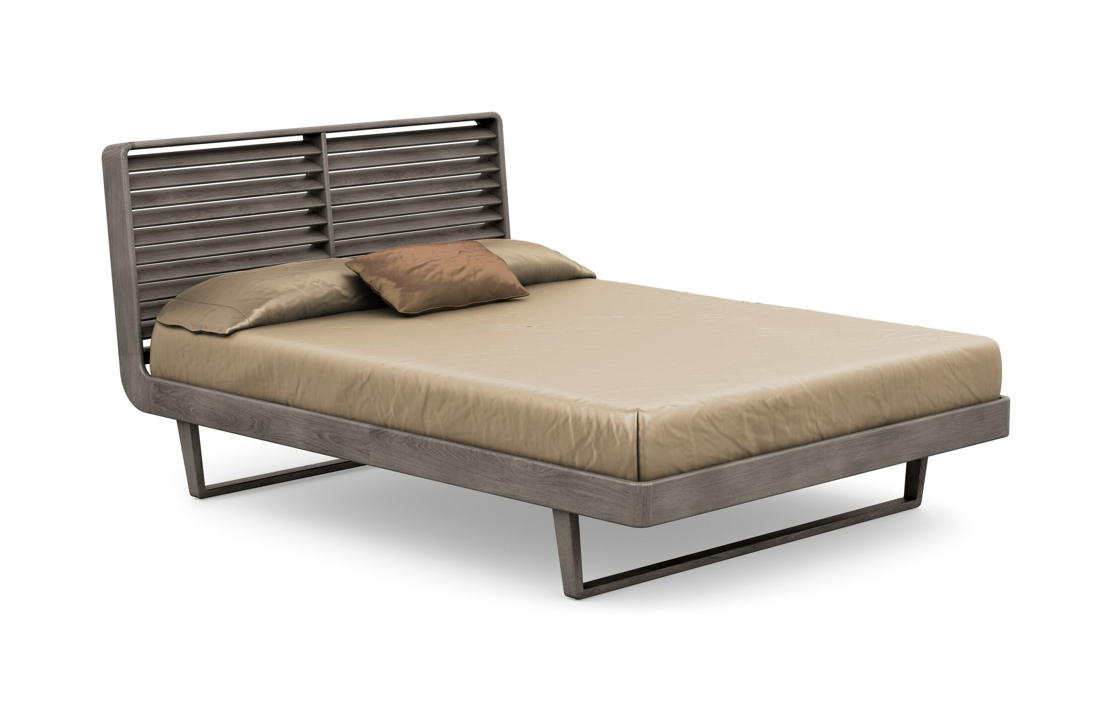 Contour Platform Bed Color: Weathered Ash, Size: Queen