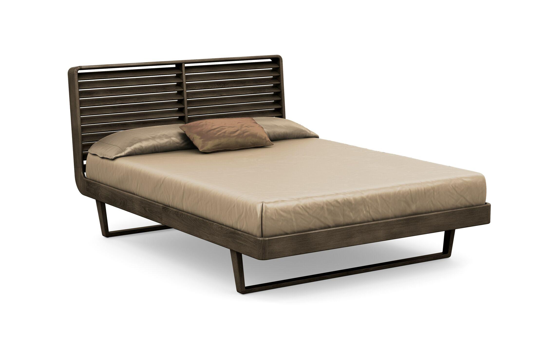 Contour Platform Bed Color: Seared Ash, Size: King
