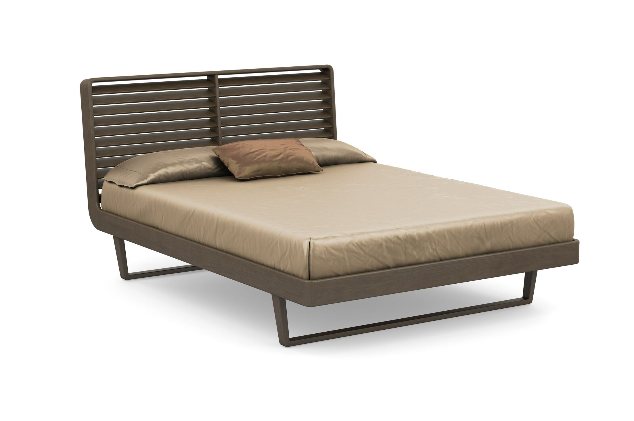 Contour Platform Bed Size: Queen, Color: Taupe Ash