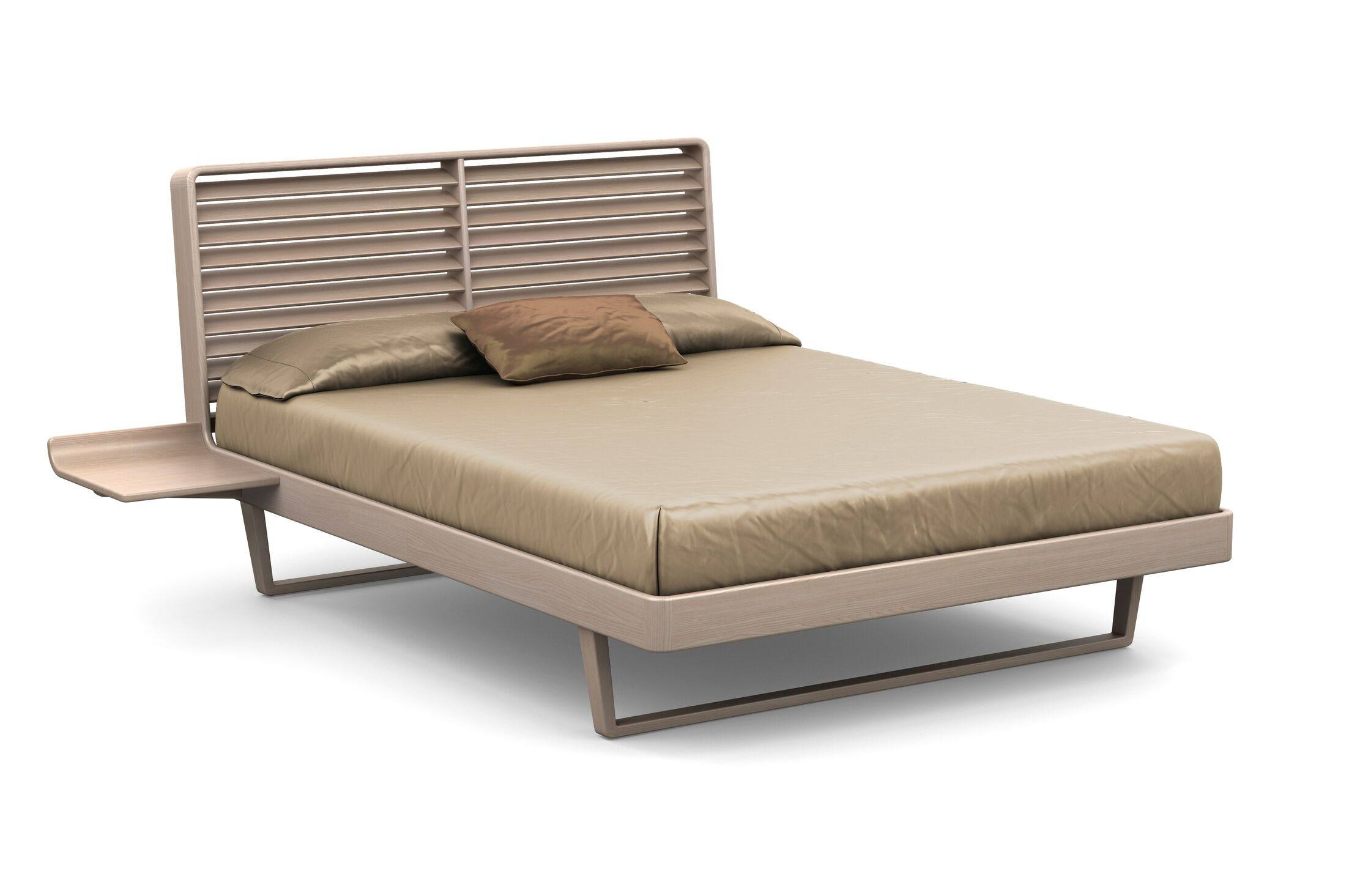 Contour Platform Bed Color: Soaped Ash, Size: California King