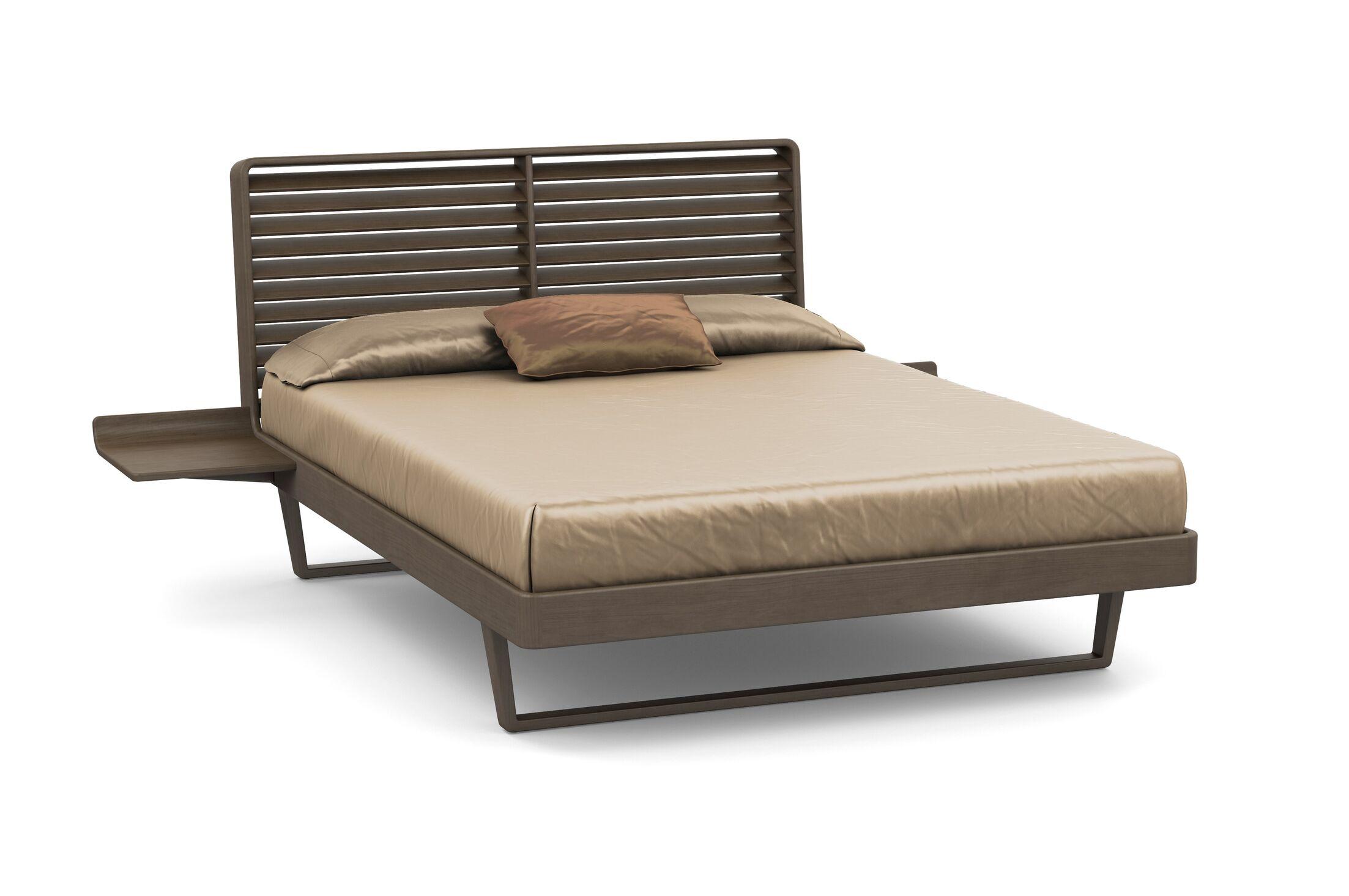 Contour Platform Bed Size: California King, Color: Taupe Ash