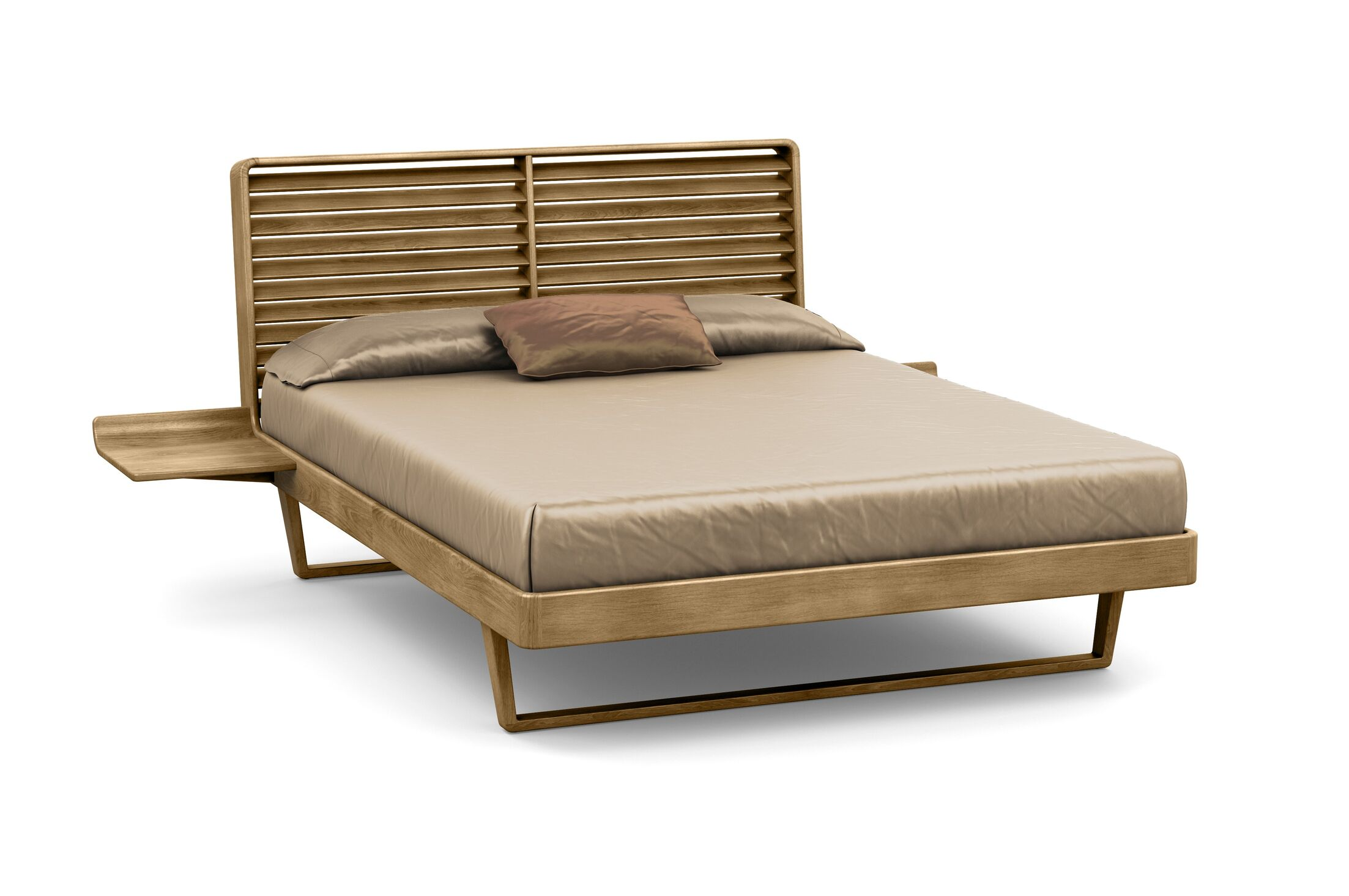 Contour Platform Bed Size: King, Color: Sand Ash