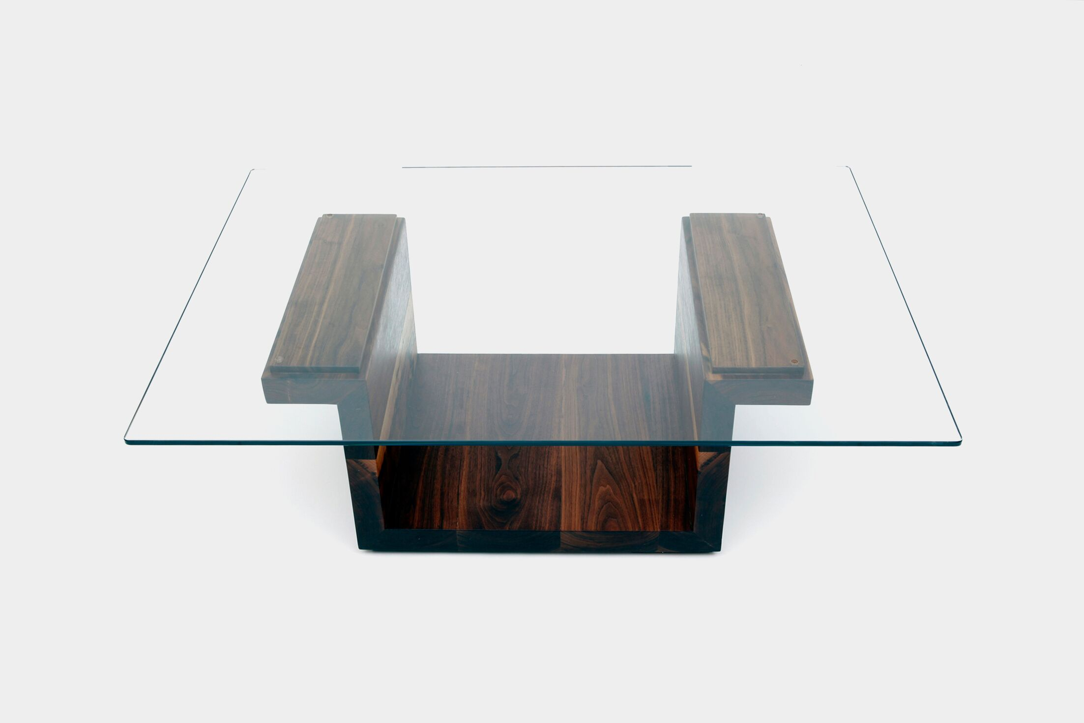 Sqg Coffee Table Color: Walnut, Size: 42