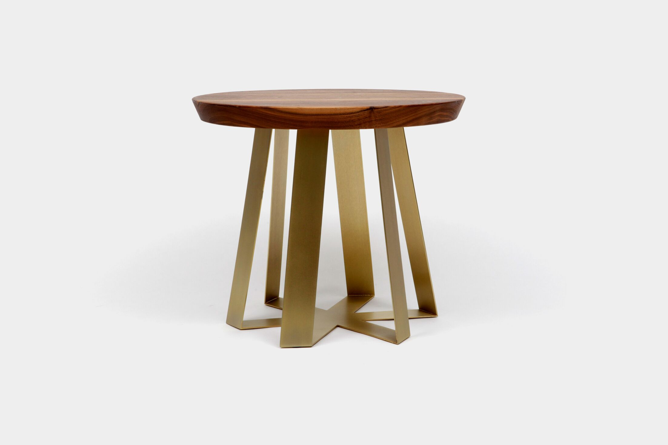 ARS End Table Top Color: Walnut, Base Color: Brass