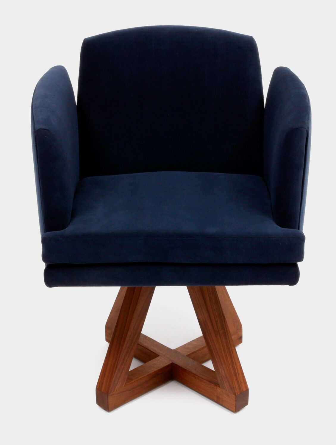 Allison Swivel Base Upholstered Dining Chair Upholstery: Deep Blue