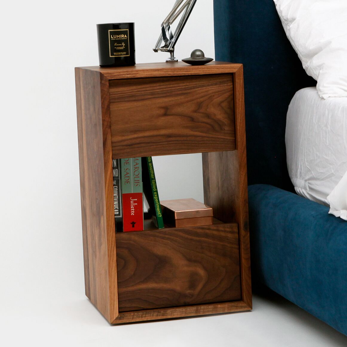 THN 2 Drawer Nightstand Color: Walnut