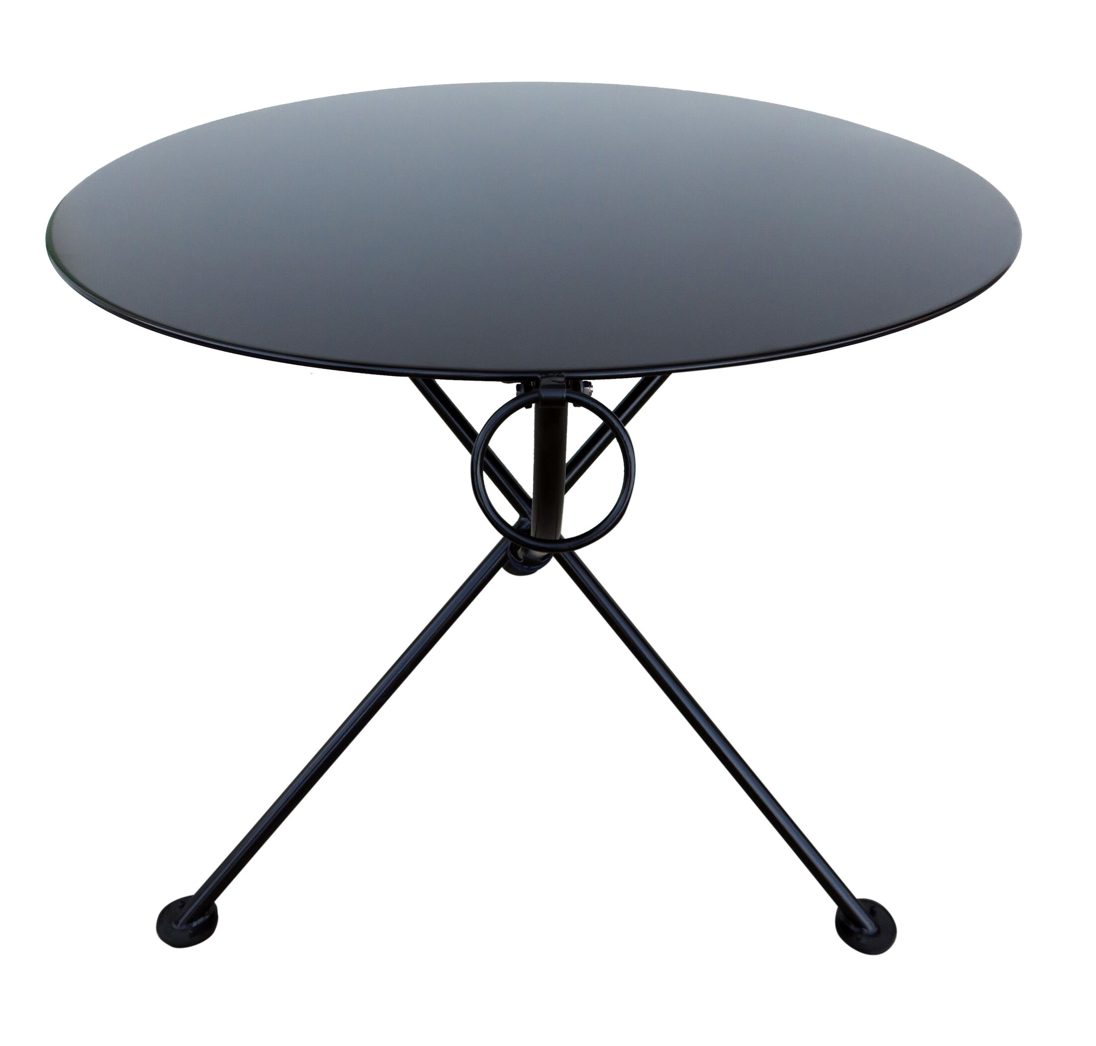 French Caf� Folding Bistro Table Base Color: Jet Black, Table Size: 34