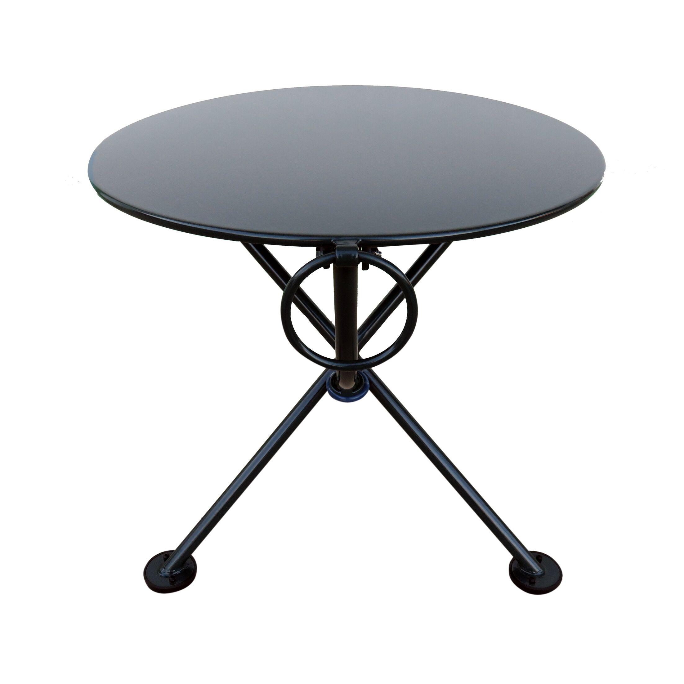French Caf� Folding Side Table Base Color: Black Green