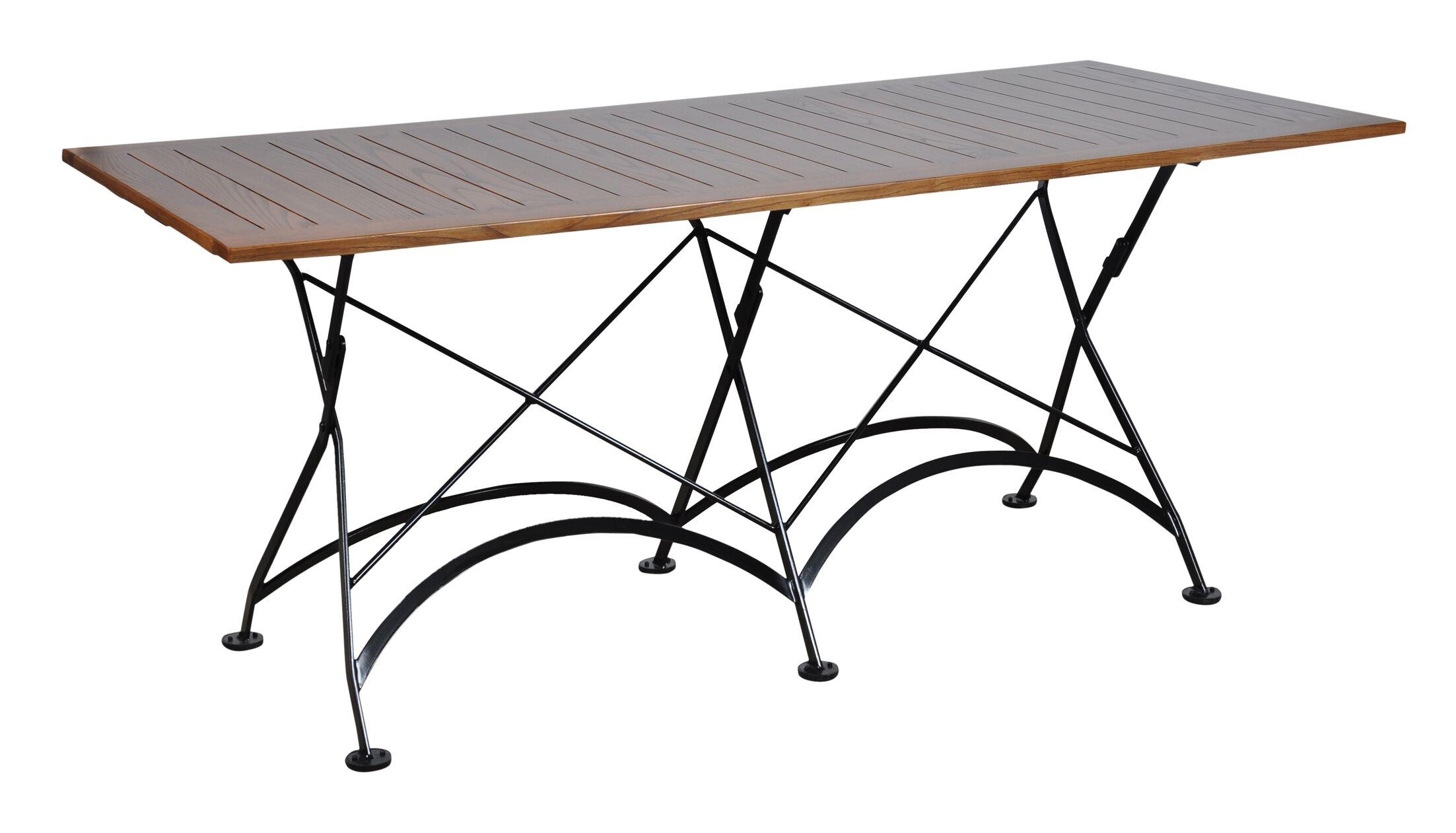 European Café Folding Dining Table Color: Chestnut