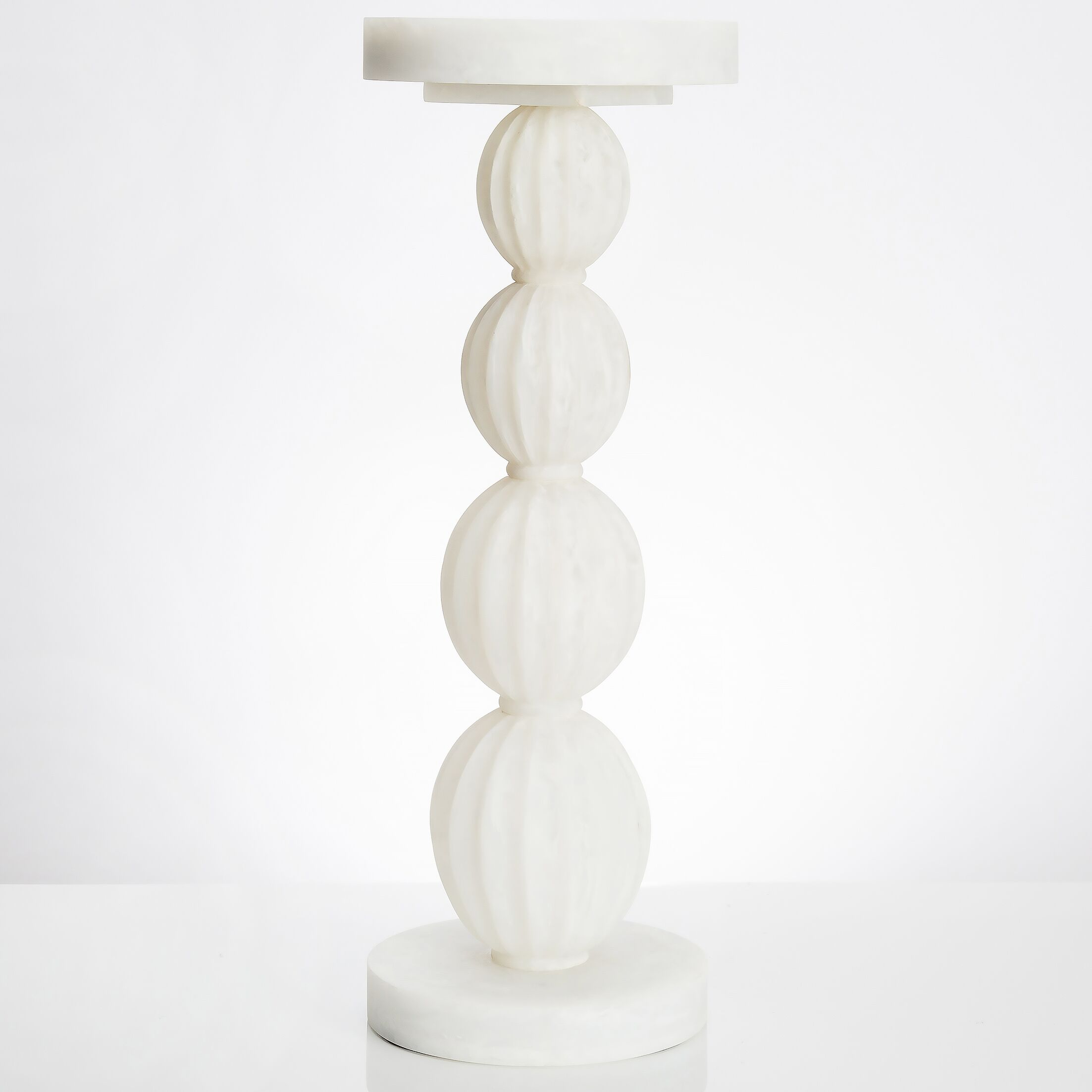 Stacked Gourd End Table Color: White