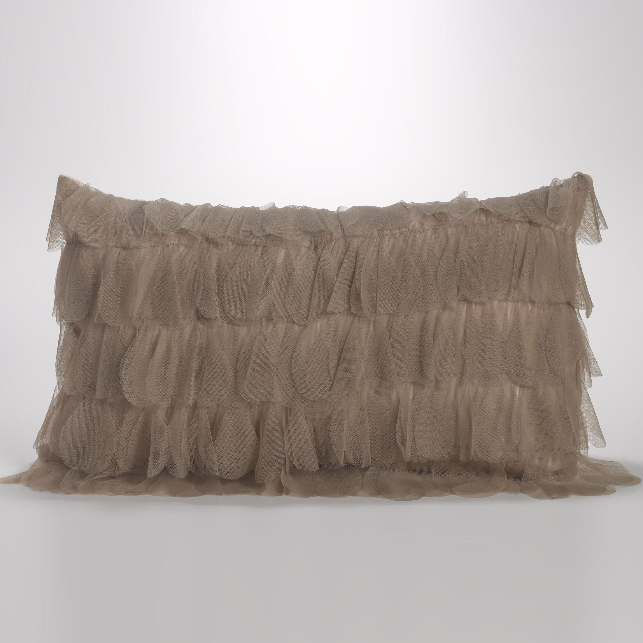 Chichi Jute Throw Pillow Color: Sable / Ivory