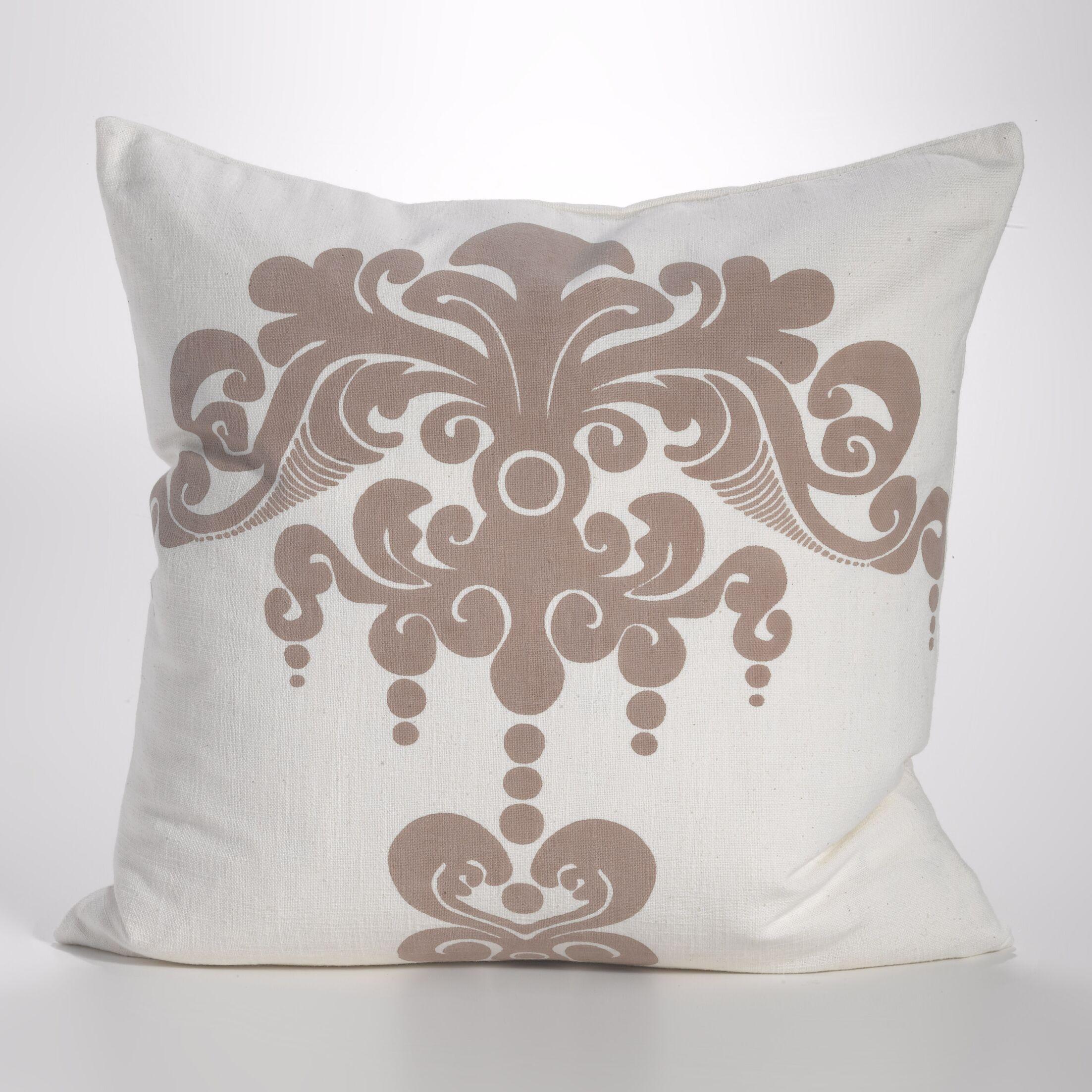Enchantique Cotton Throw Pillow Color: Sable