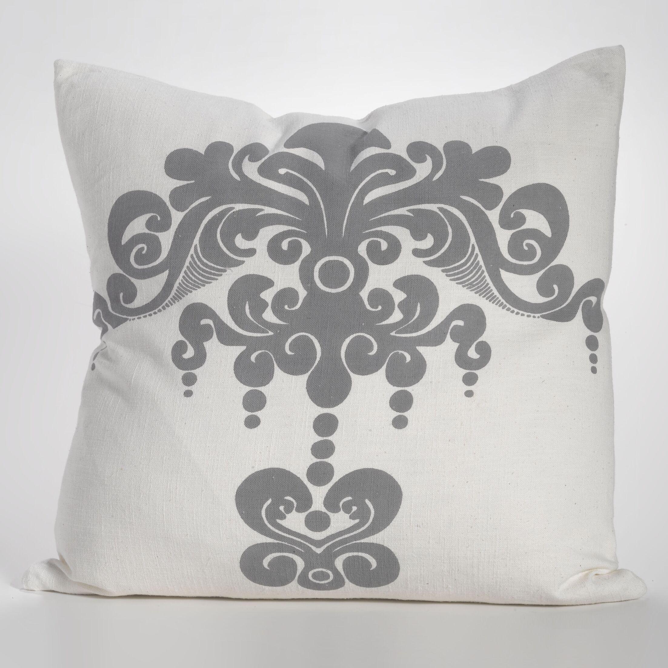 Enchantique Cotton Throw Pillow Color: Dark Grey
