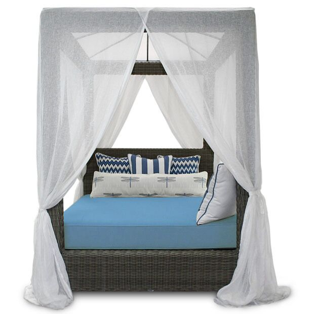 Palisades Canopy Daybed Fabric: Sunbrella Canvas Air Blue