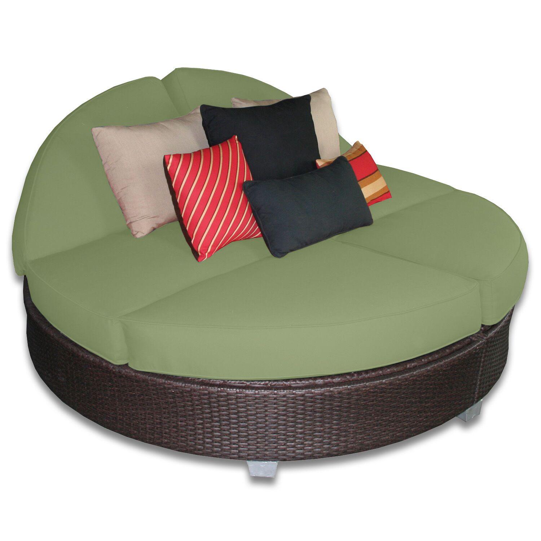 Signature Round Double Chaise Lounge Fabric Color: Cilantro