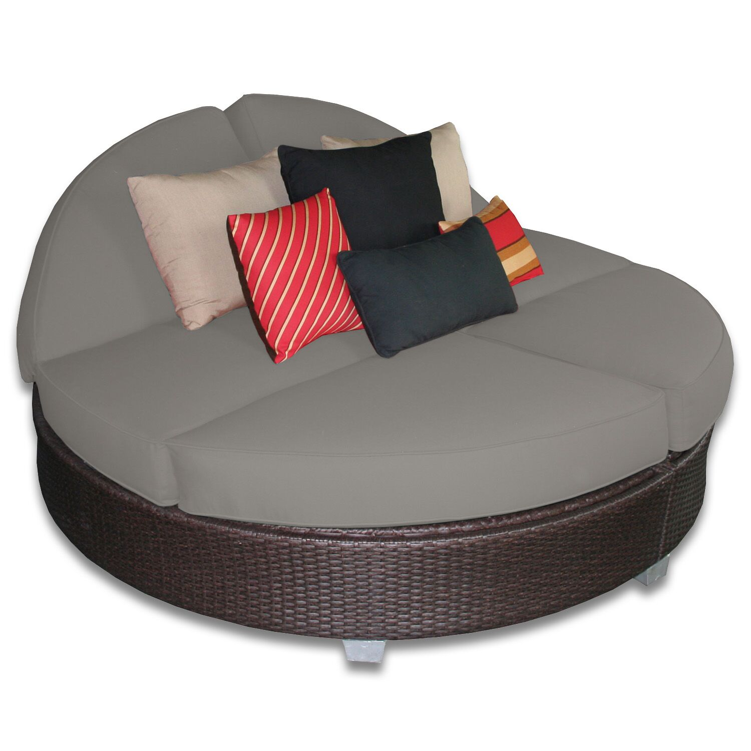 Signature Round Double Chaise Lounge Fabric Color: Graphite